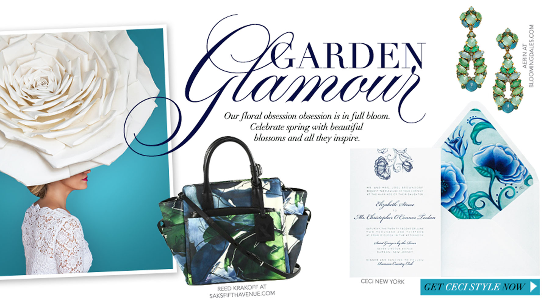 Garden Glamour - Our floral obsession is in full bloom. Celebrate spring with beautiful blossoms and all they inspire.
