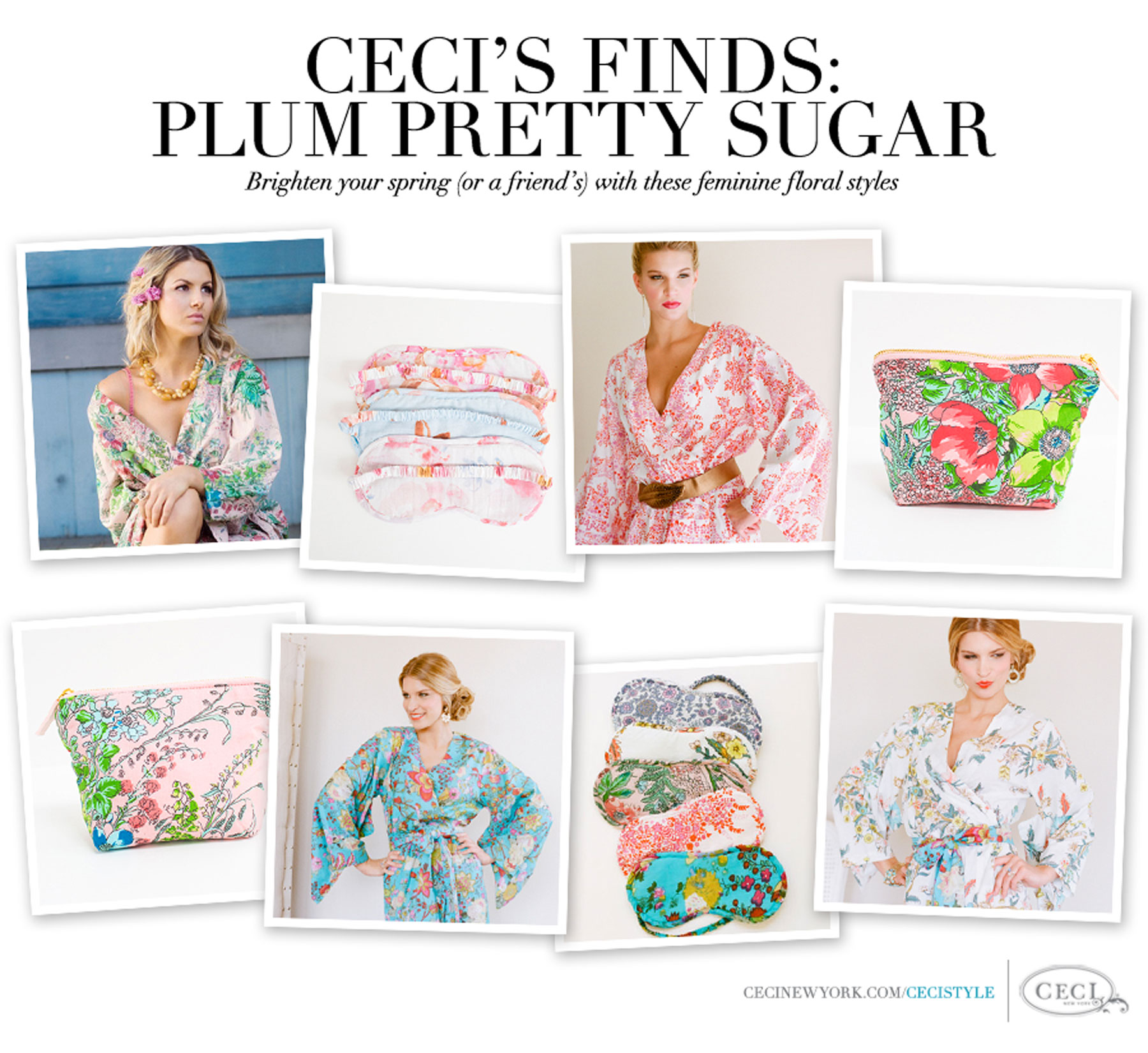 Ceci's Finds: Plum Pretty Sugar - Brighten your spring (or a friend's) with these feminine floral styles