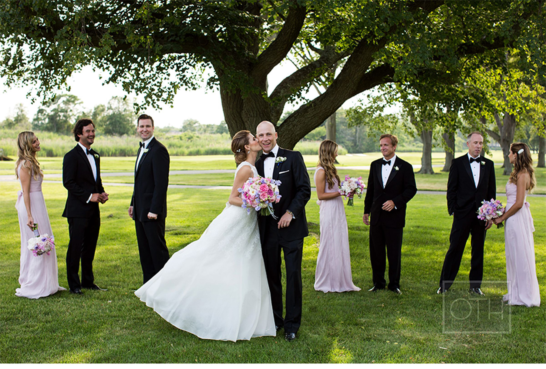 Our Muse - Romantic Traditional Wedding - Be inspired by Liz & Chris' romantic traditional country club wedding in New Jersey - wedding, programs, ceremony programs, ceci new york, navy, floral, inspiration, christian oth