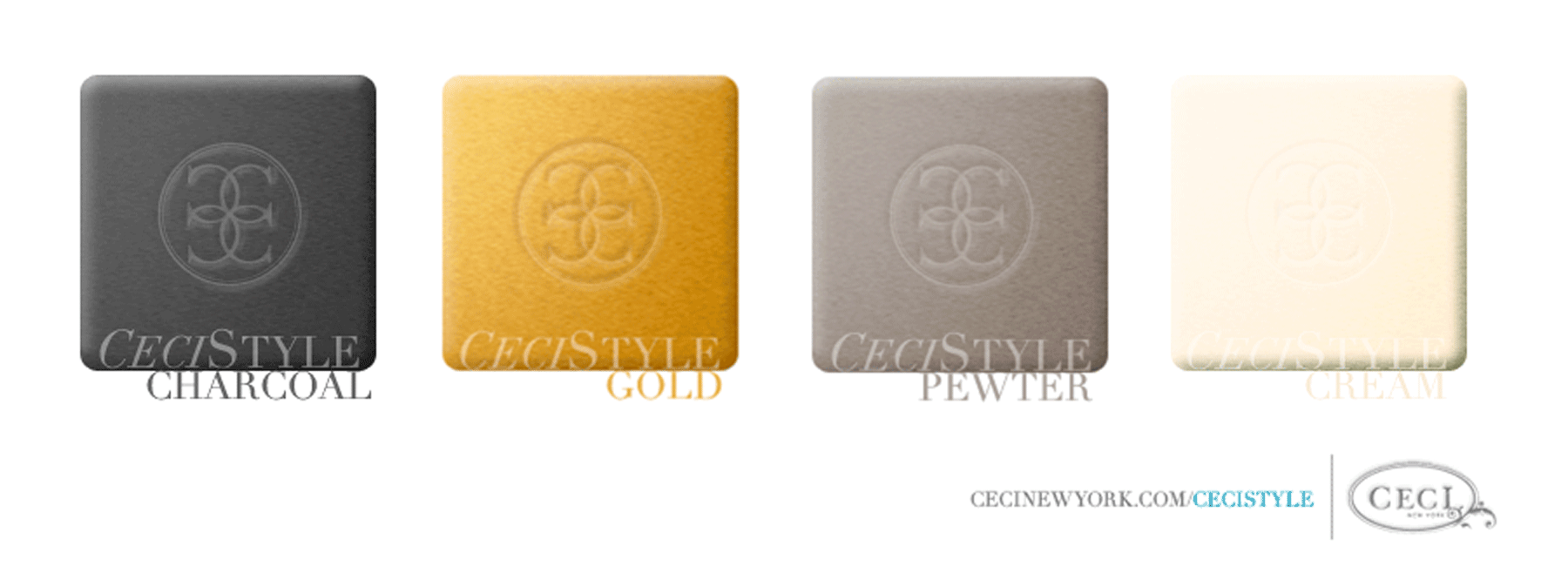 Ceci's Color Stories - Pewter & Gold Wedding Colors - color swatches, charcoal, gold, pewter, cream, wedding