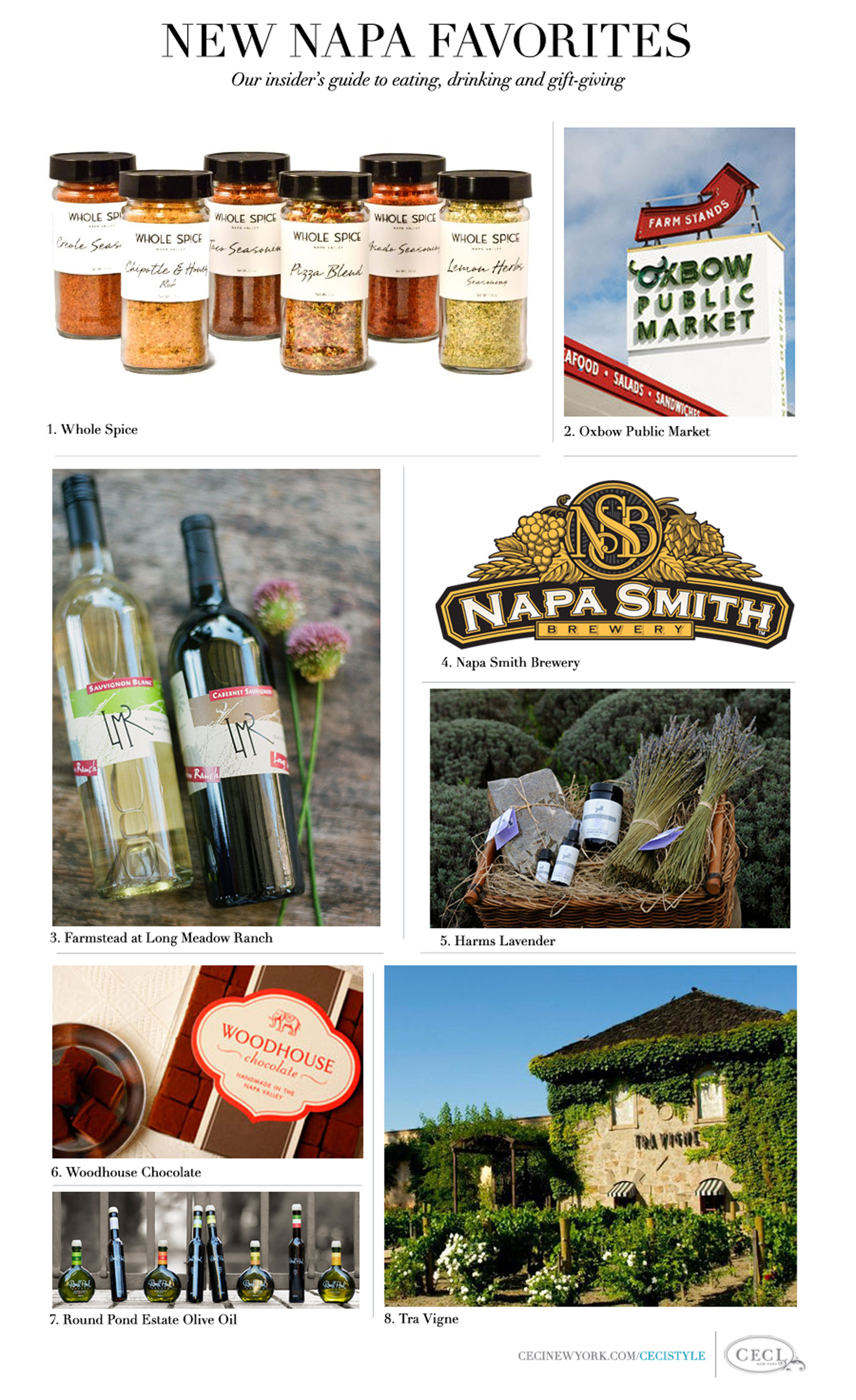 New Napa Favorites - Our insider's guide to eating, drinking and gift-giving