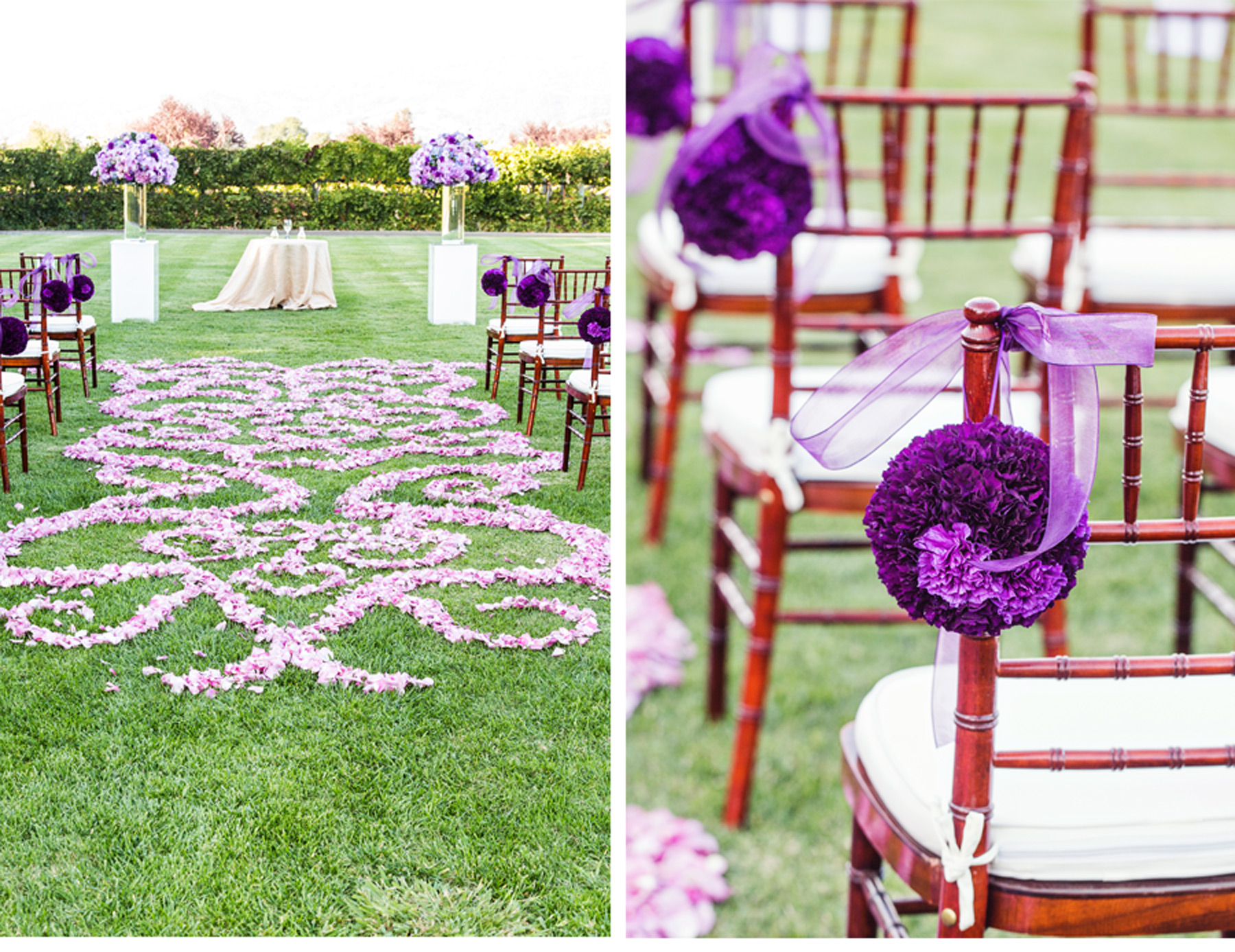 Our Muse - Vineyard Wedding in Napa, California - Be inspired by Lyn & Andrew's vineyard wedding in northern California - ceci new york, wedding, napa, california, purple, silver, destination wedding, ceremony, cole drake events