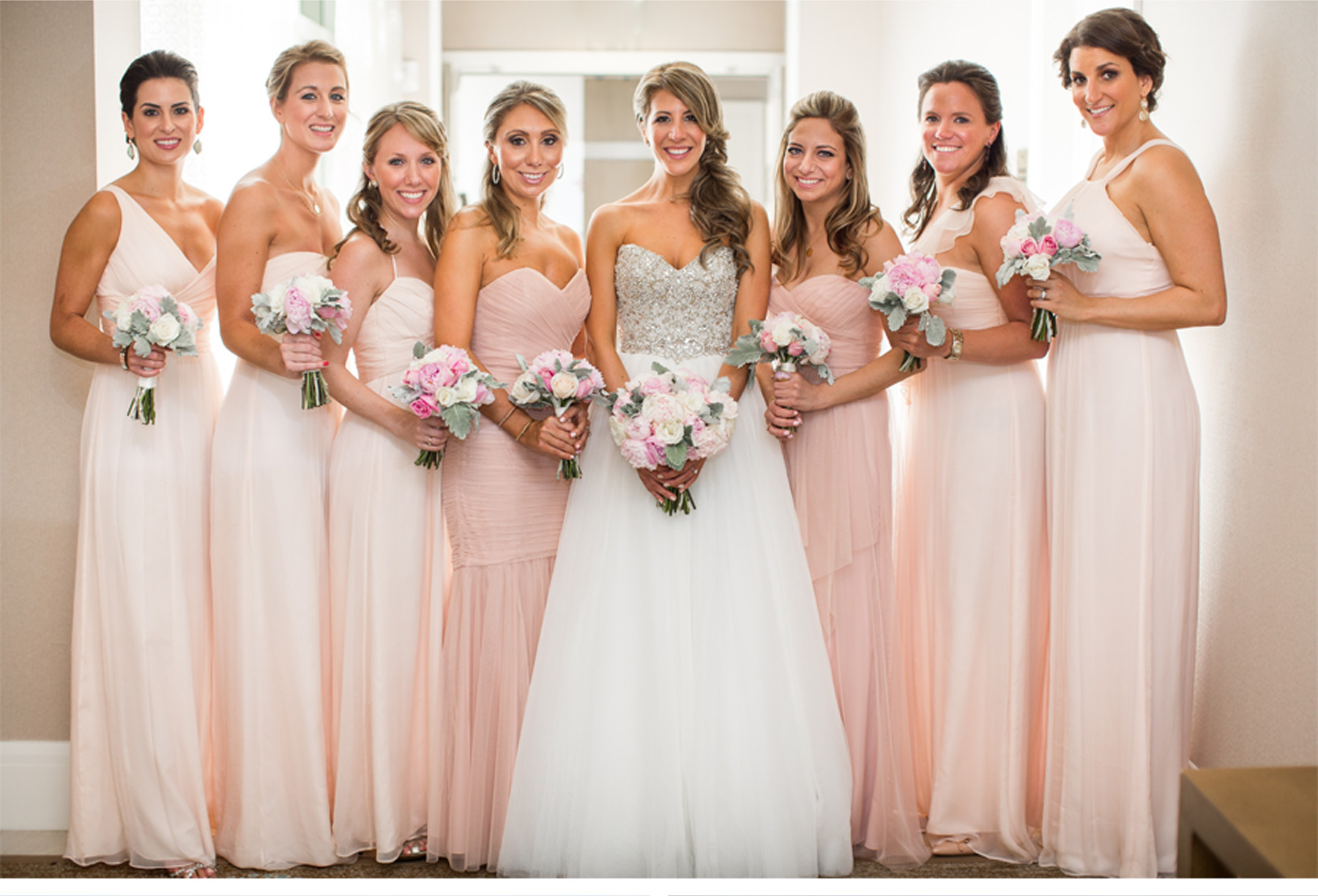 Dress sparkles bridesmaid dresses bride groom rose gold wedding