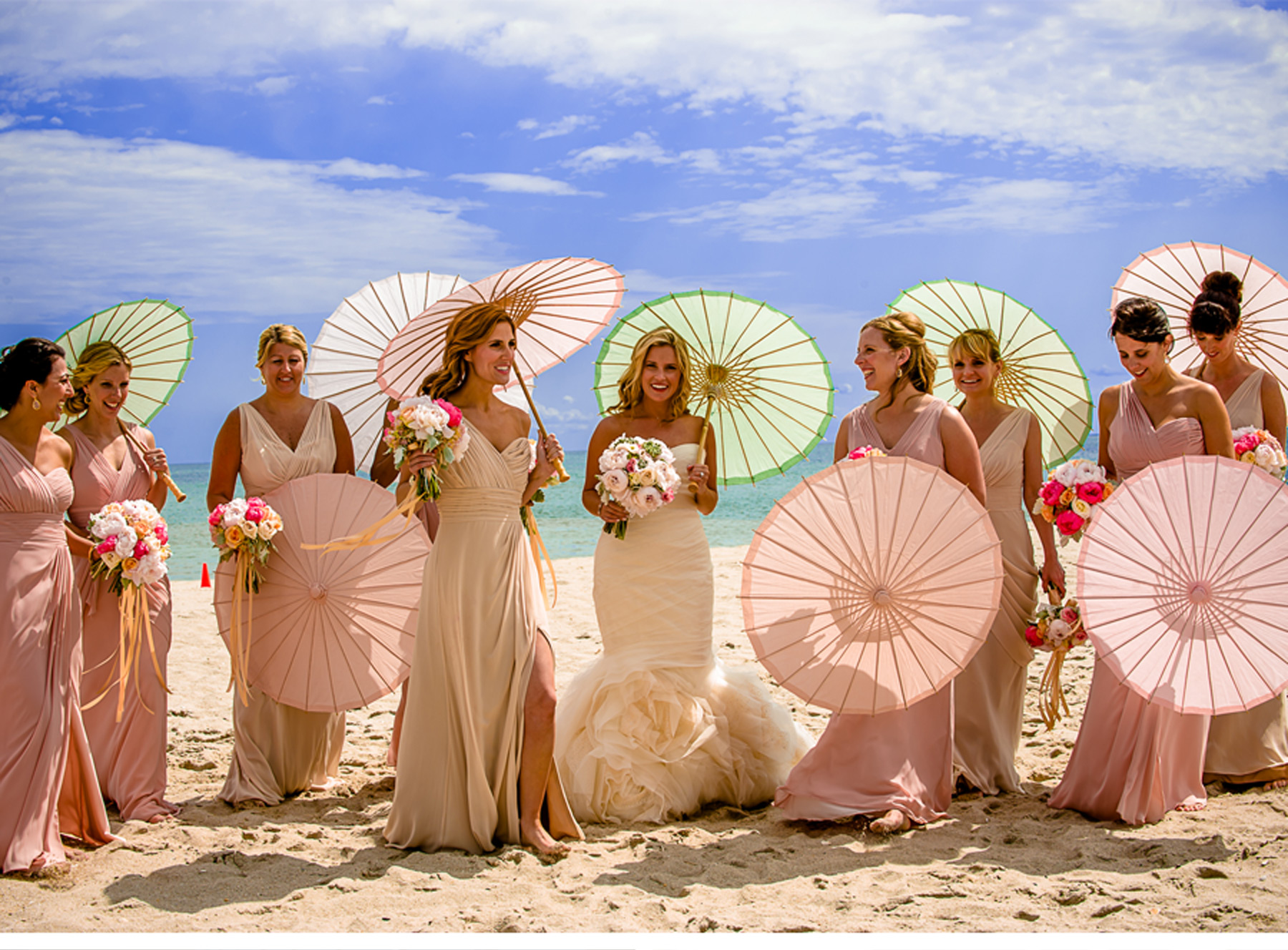 V205 our muse pewter and pink wedding susan for Beach weddings in ny