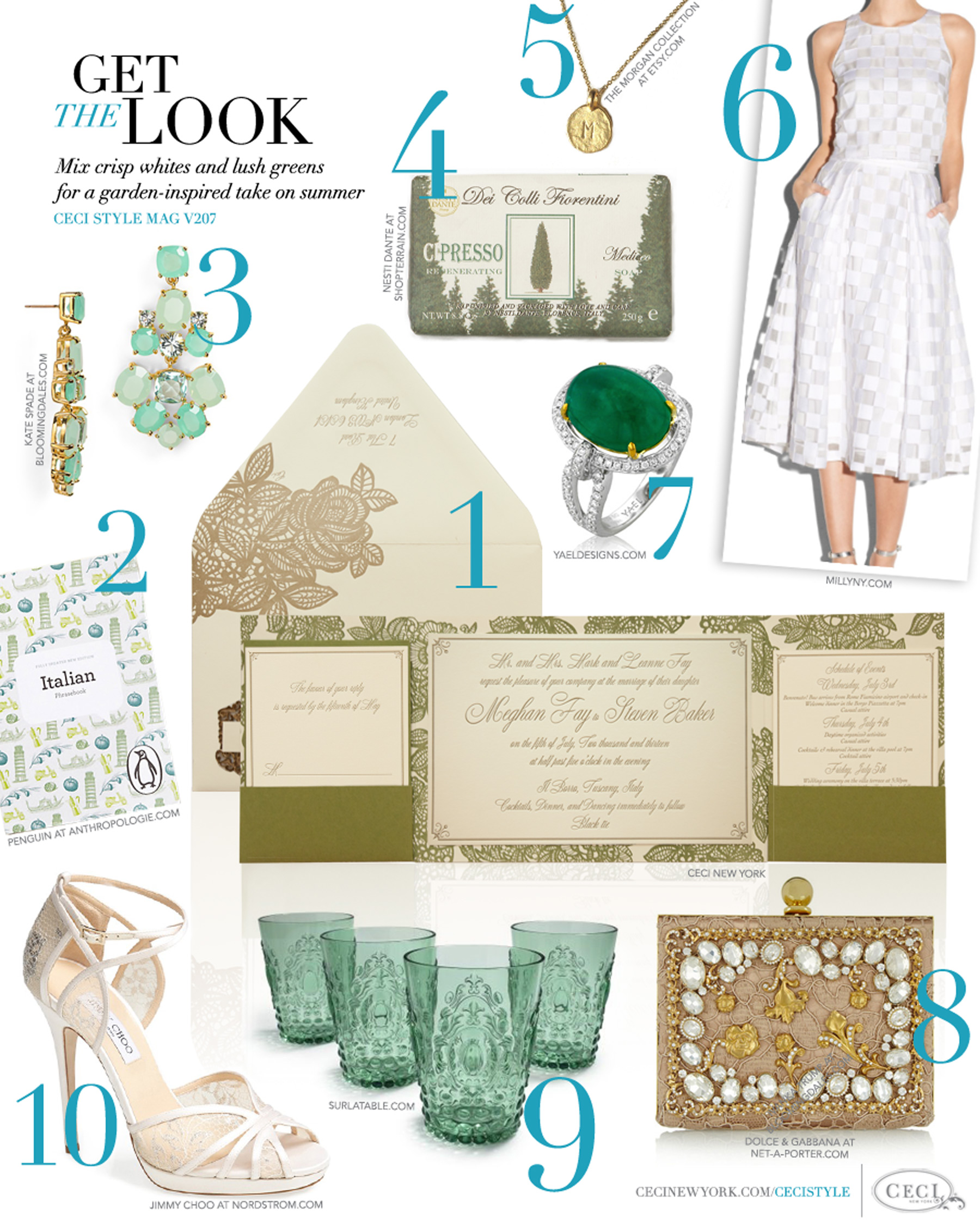 V207 get the look garden gorgeous ceci style cecistyle magazine v207 get the look garden gorgeous mix crisp whites and lush monicamarmolfo Image collections
