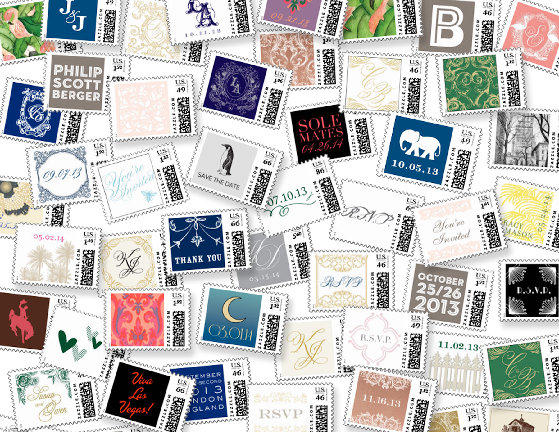 Custom Stamps by Ceci New York on Zazzle.com