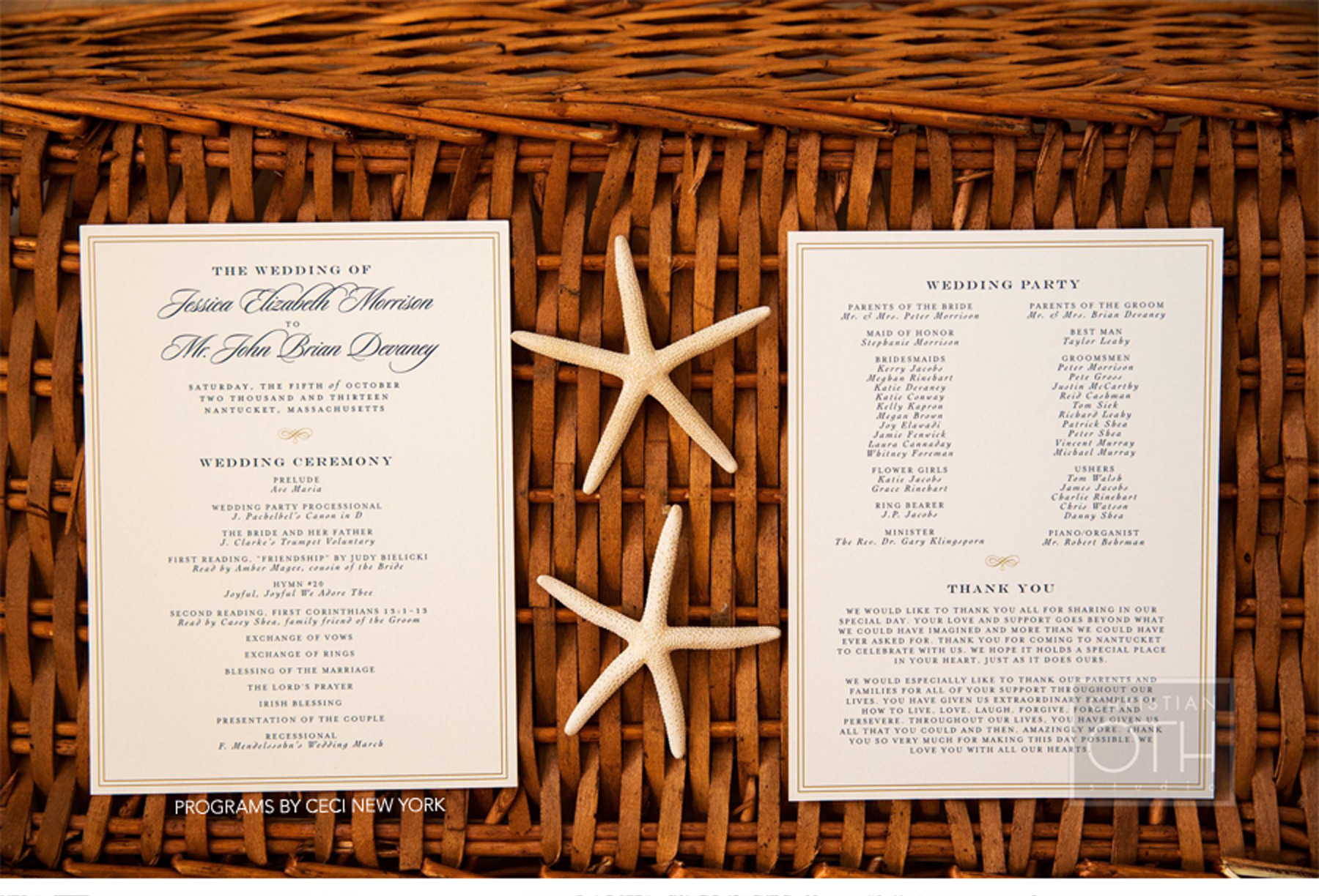 Our Muse - Navy Nantucket Wedding - Be inspired by Jessica & John's navy blue Nantucket wedding - program, ceci new york, offset, printing, wedding, nantucket, navy blue, blush, new england, lighthouse