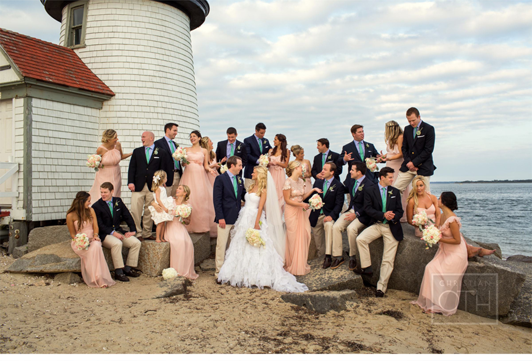 Our Muse - Navy Nantucket Wedding - Be inspired by Jessica & John's navy blue Nantucket wedding - wedding, nantucket, lighthouse, vintage, car, group, escort cards, ceci new york, calligraphy, tent, lanterns, massachusetts, new england, nautical