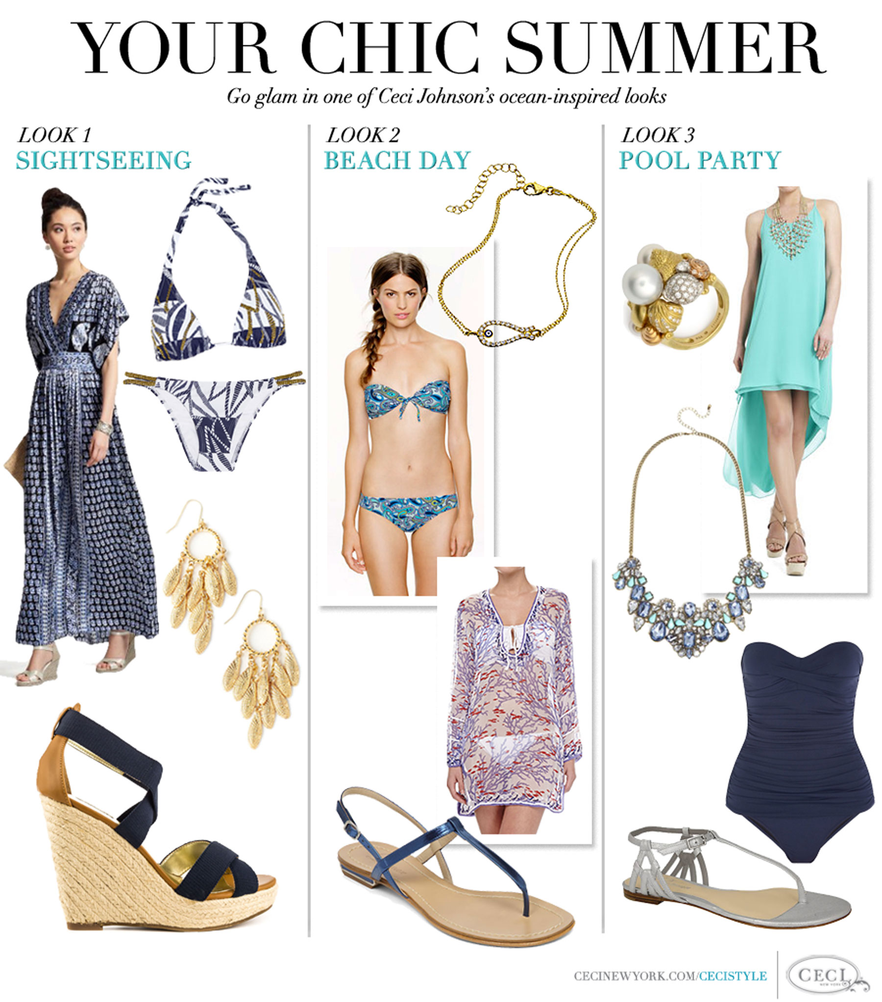 Your Chic Summer - Go glam in one of Ceci Johnson's ocean-inspired looks