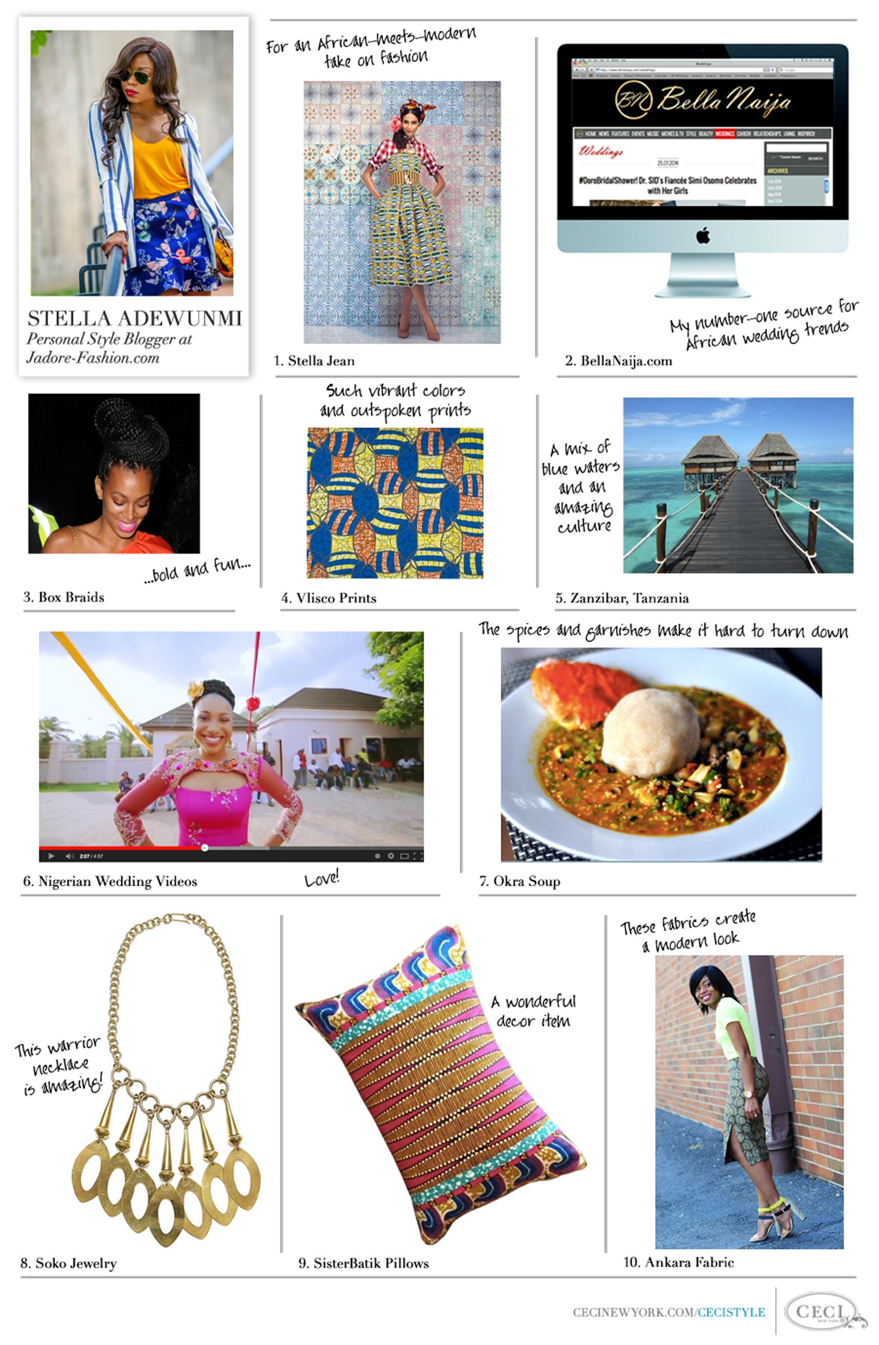 CeciStyle Magazine v210: Fabulous Finds Guest Editor - Stella Adewunmi from Jadore-Fashion Blog