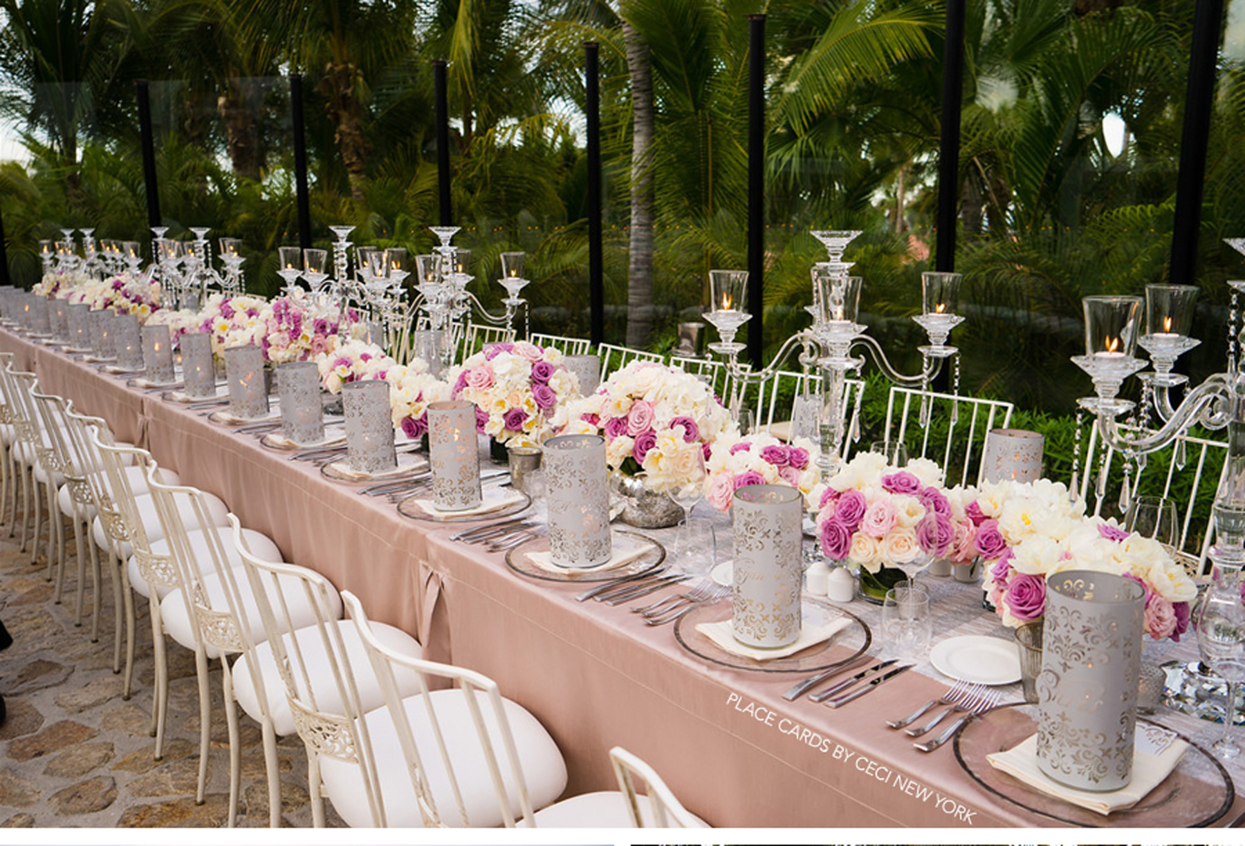 Pink Silver And White Wedding Decor Unique Ideas