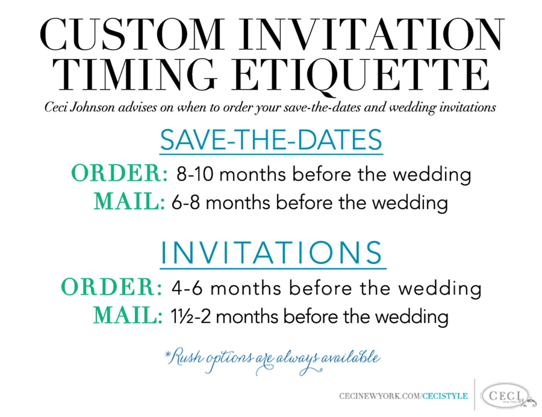 v214 cecistyle ceci new york With wedding invitations timing etiquette