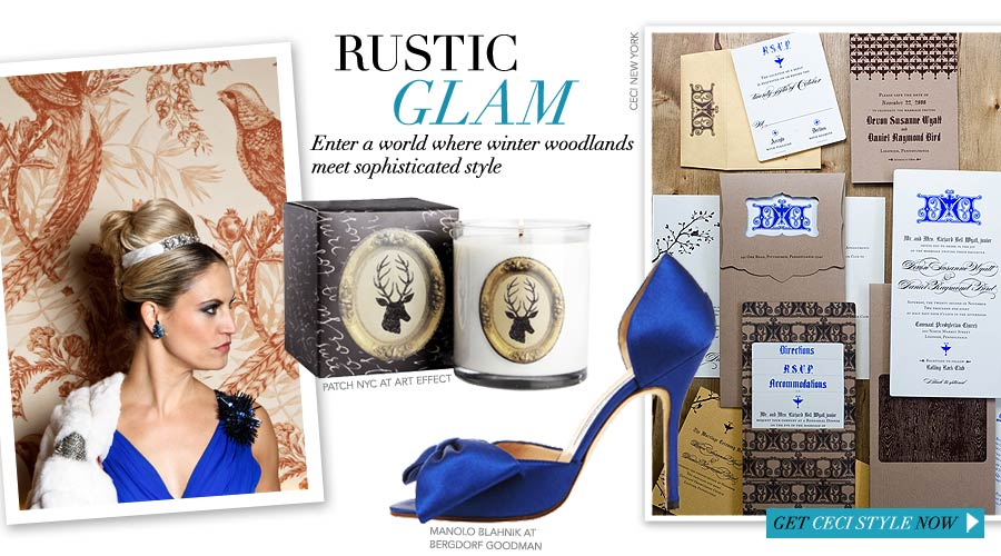 Rustic Glam - Enter a world where winter woodlands meet sophisticated style