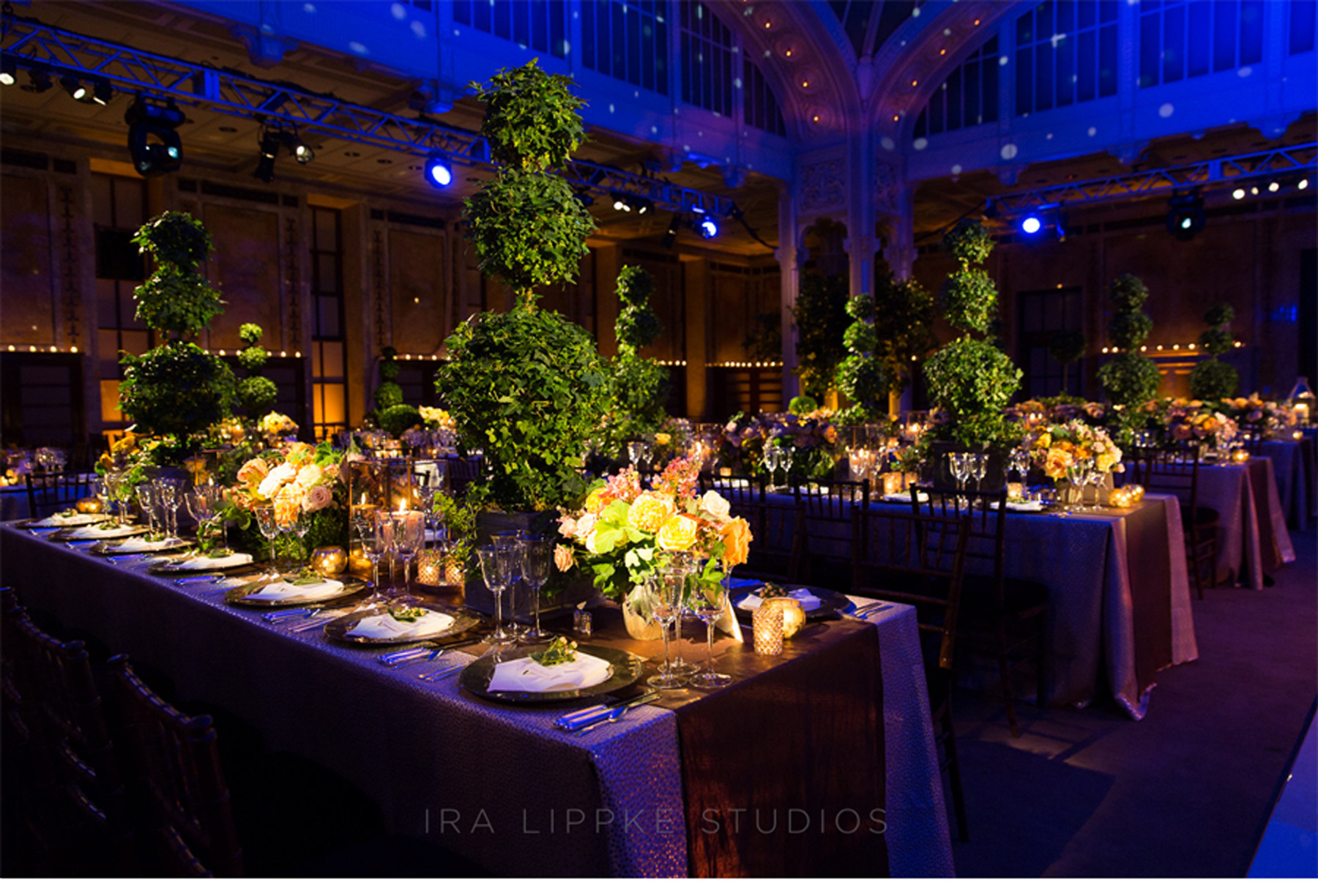 Lovely Wedding Decorations Blue and Gold