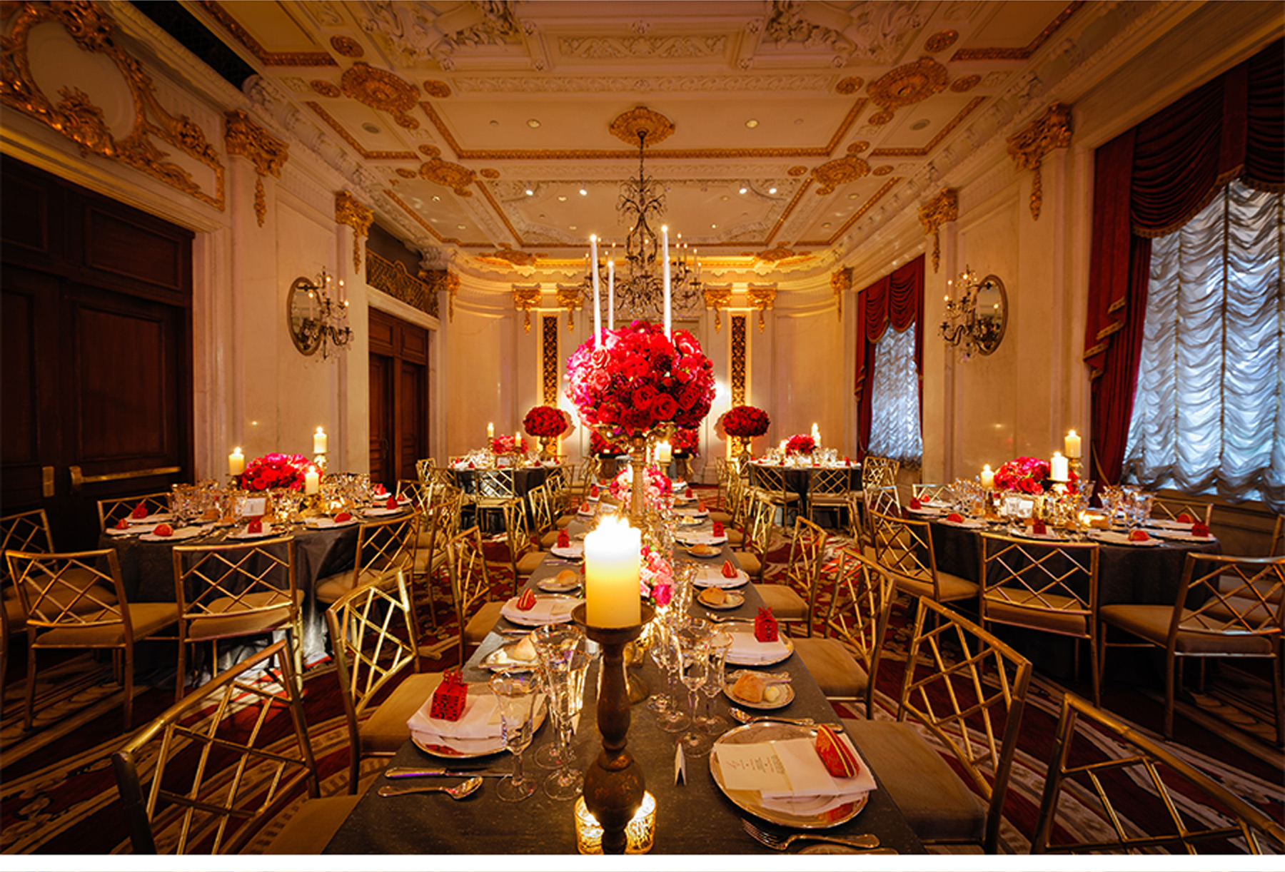 V227 Our Muse Ornate Red and Gold Wedding at the St Regis Laura