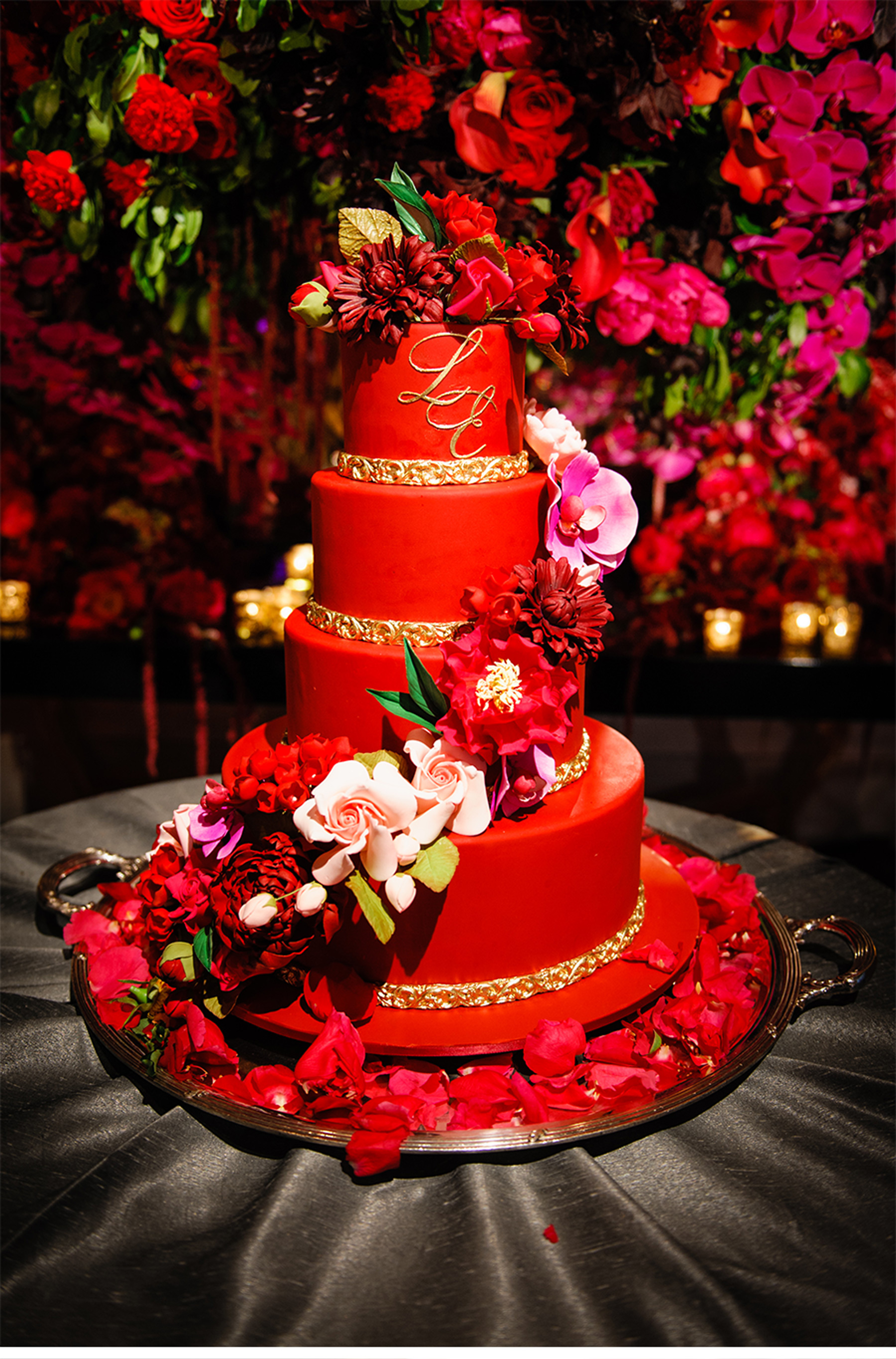 New Red Black and Gold Wedding Cakes Project - Bruman MMC