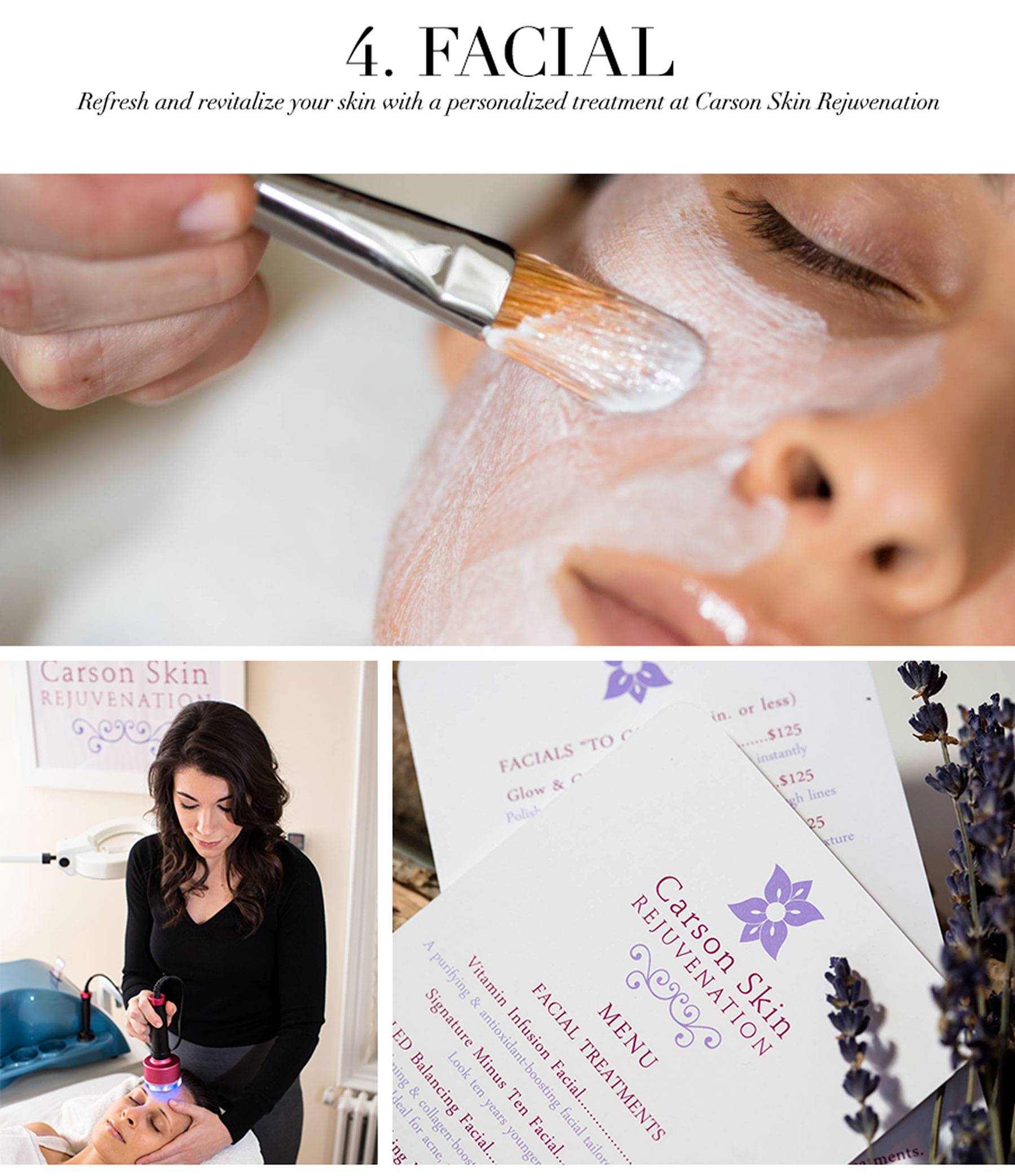 Ceci Johnson's Treat-Yourself Picks - Facial - Refresh and revitalize your skin with a personalized treatment at Carson Skin Rejuvenation