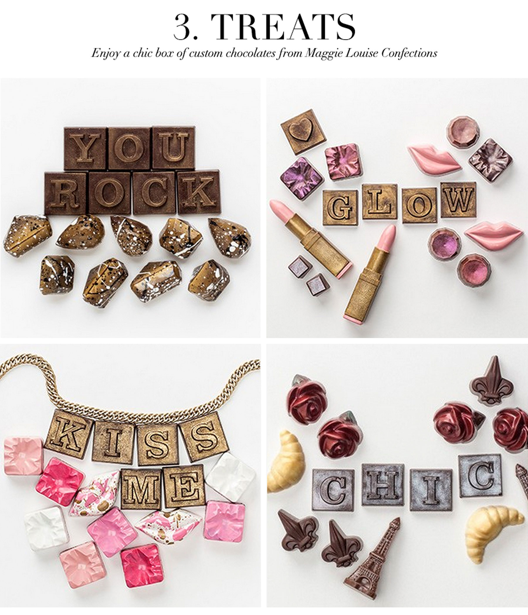 Ceci Johnson's Treat-Yourself Picks - Treats - Treat yourself to a chic box of custom chocolates with Maggie Louise Confections