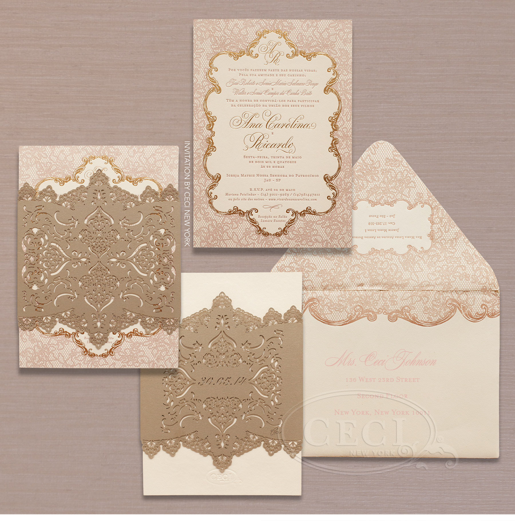 wedding invitations by ceci new york our muse romantic wedding