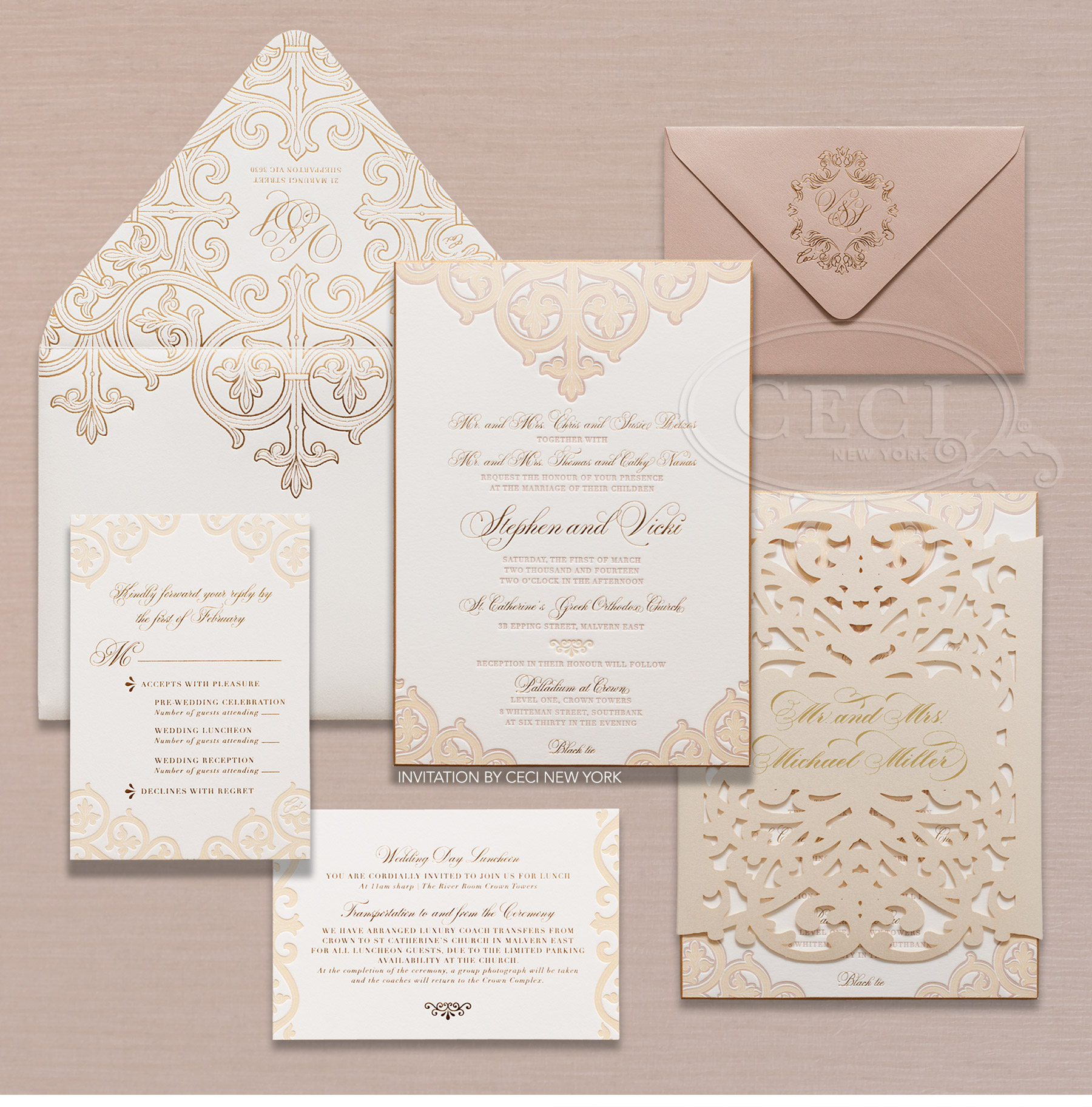 V238 our muse fashion inspired wedding in melbourne australia luxury wedding invitations by ceci new york our muse fashion inspired wedding in stopboris Choice Image