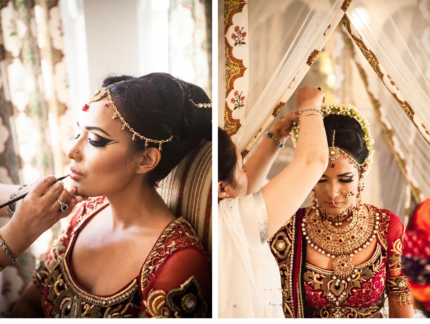 Our Muse - Vibrant Indian Wedding - Be inspired by Christina & Benjamin's colorful wedding in Rajasthan, India - indian bride, indian wedding, henna, jewelry, floral head piece, bride, groom, rajasthan, jaipur, wedding, colorful, ceremony, getting ready, henna