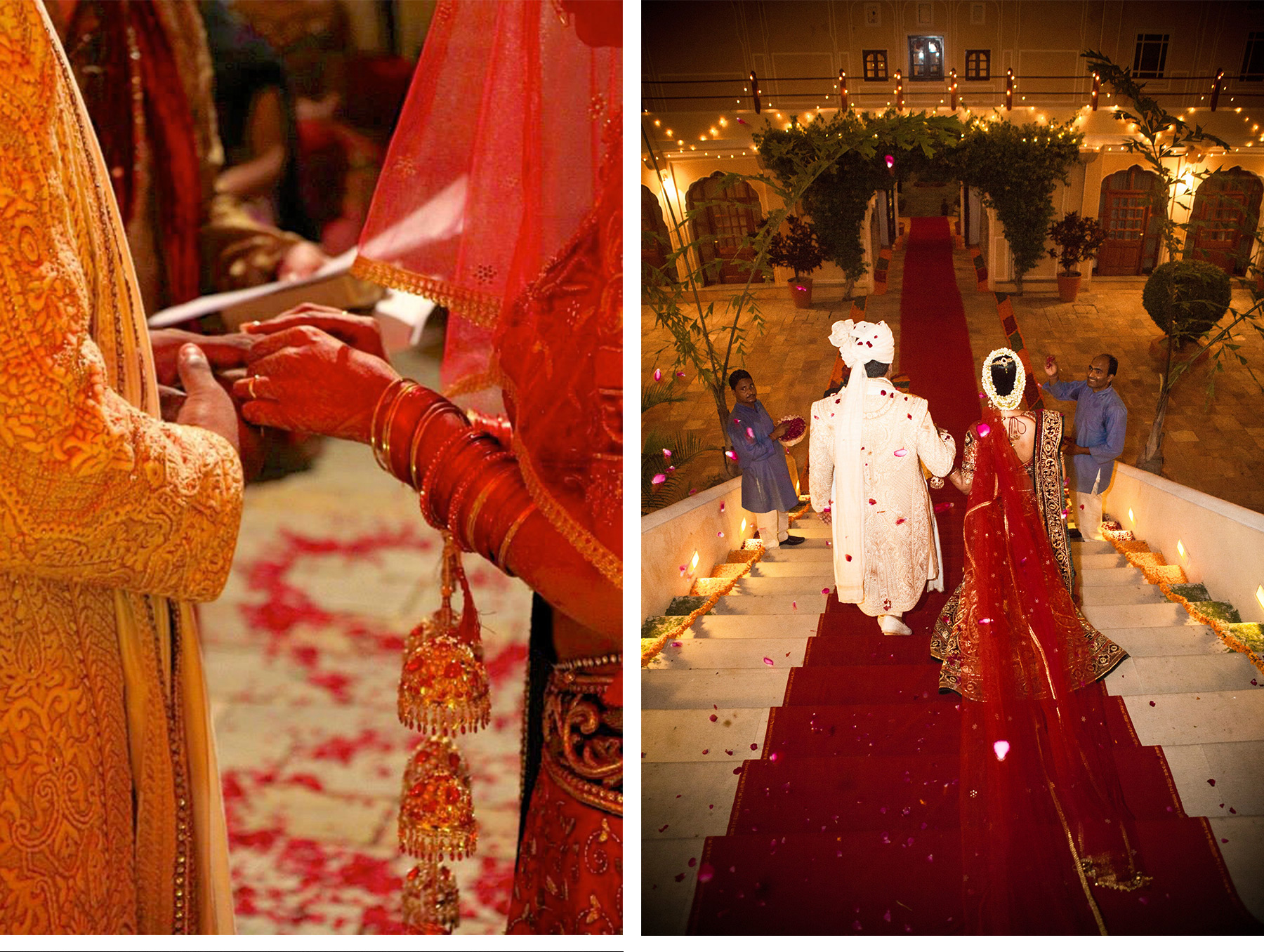 Our Muse - Vibrant Indian Wedding - Be inspired by Christina & Benjamin's colorful wedding in Rajasthan, India - colorful wedding, indian wedding ceremony, bride, groom, aisle, traditional, india, jaipur, rajasthan, destination wedding, lanterns