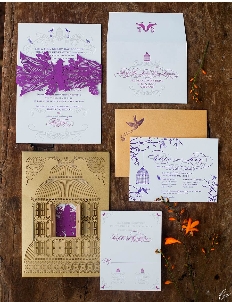 Luxury Wedding Invitations by Ceci New York - Our Muse - Ceci-Inspired Botanical Style Tablescape - Wedding Invitations -invitations, ivy robinson weddings and events, laser-cut printing, letterpress printing, wedding