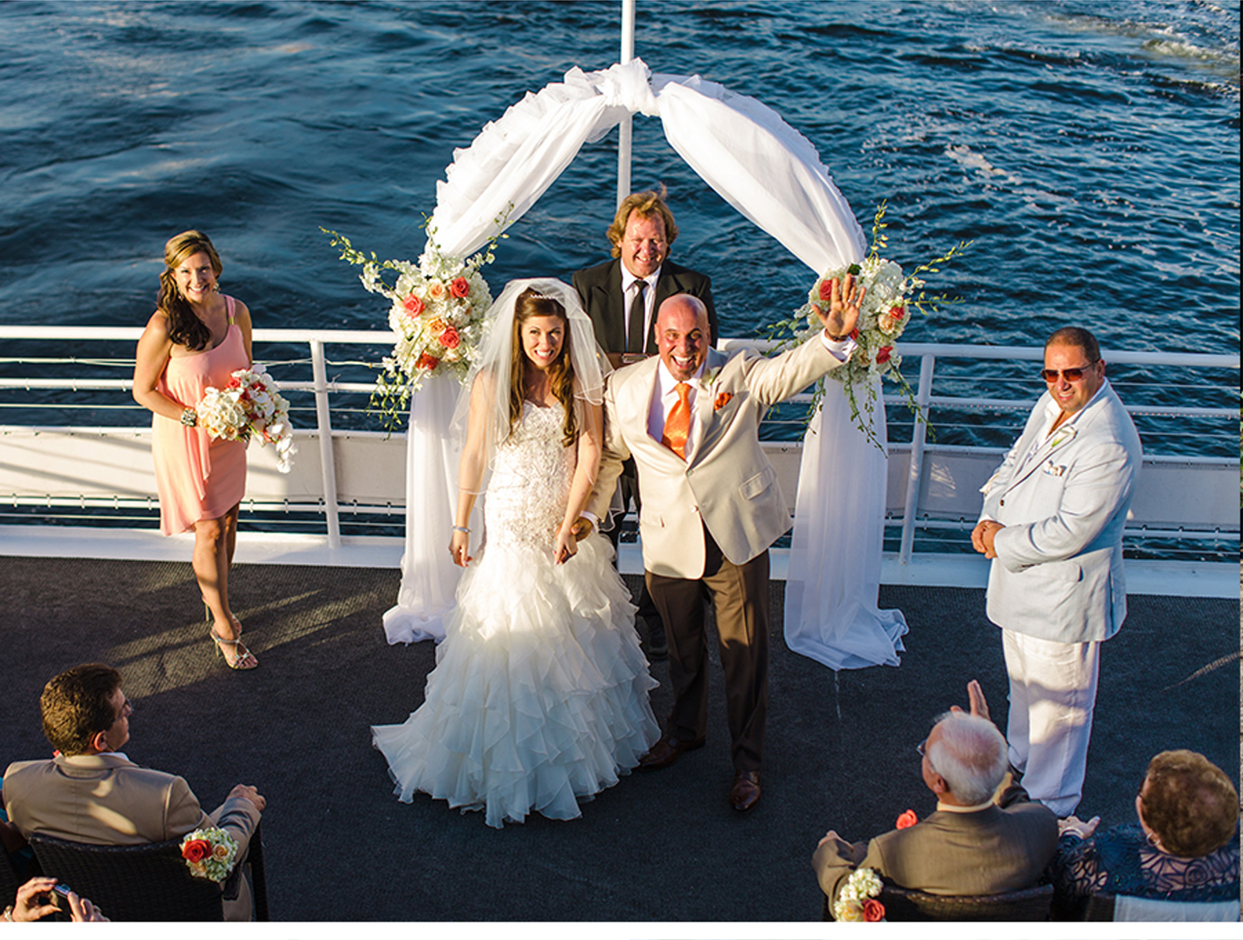 Our Muse - Nautical Wedding in Florida: Krysta and Luigi, Part 3 - Be inspired by Krysta and Luigi's nautical wedding in Florida. - invitations, wedding, ceci new york, inspiration, ceci johnson, celebration, bride, groom, event, luxury wedding invitations,  couture, custom wedding invitations, catalina yacht, fort lauderdale, florida