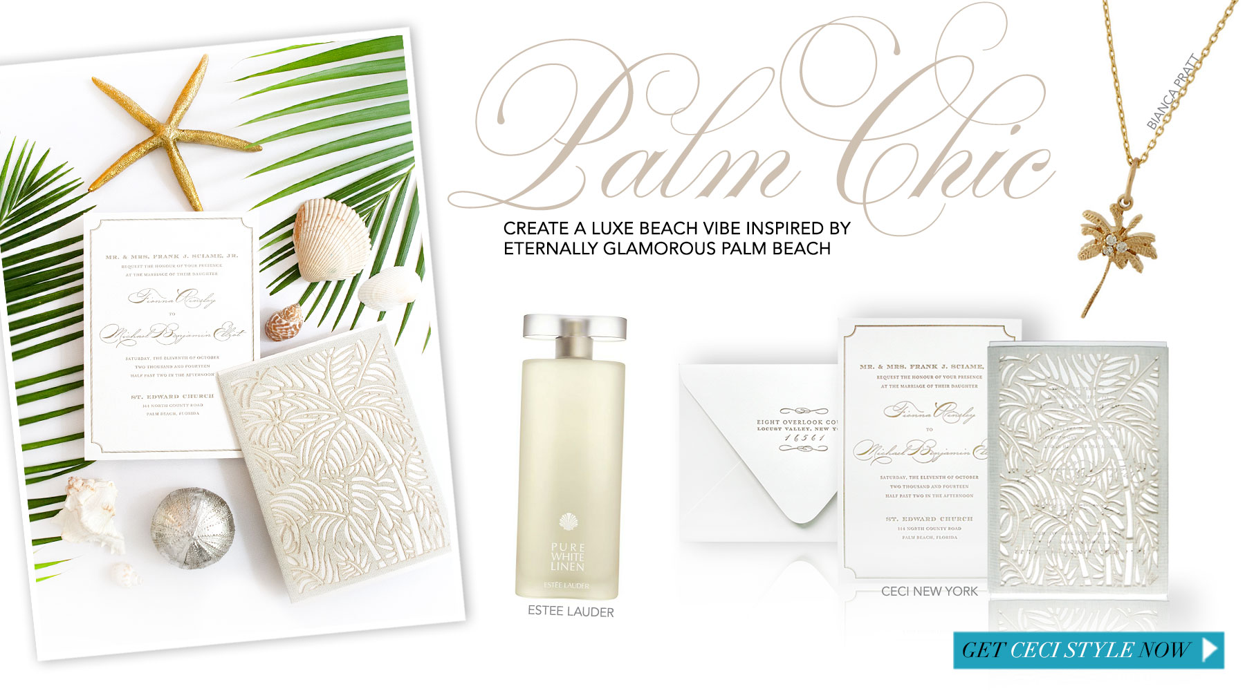 Palm Chic - Create a luxe beach vibe inspired by eternally glamorous Palm Beach