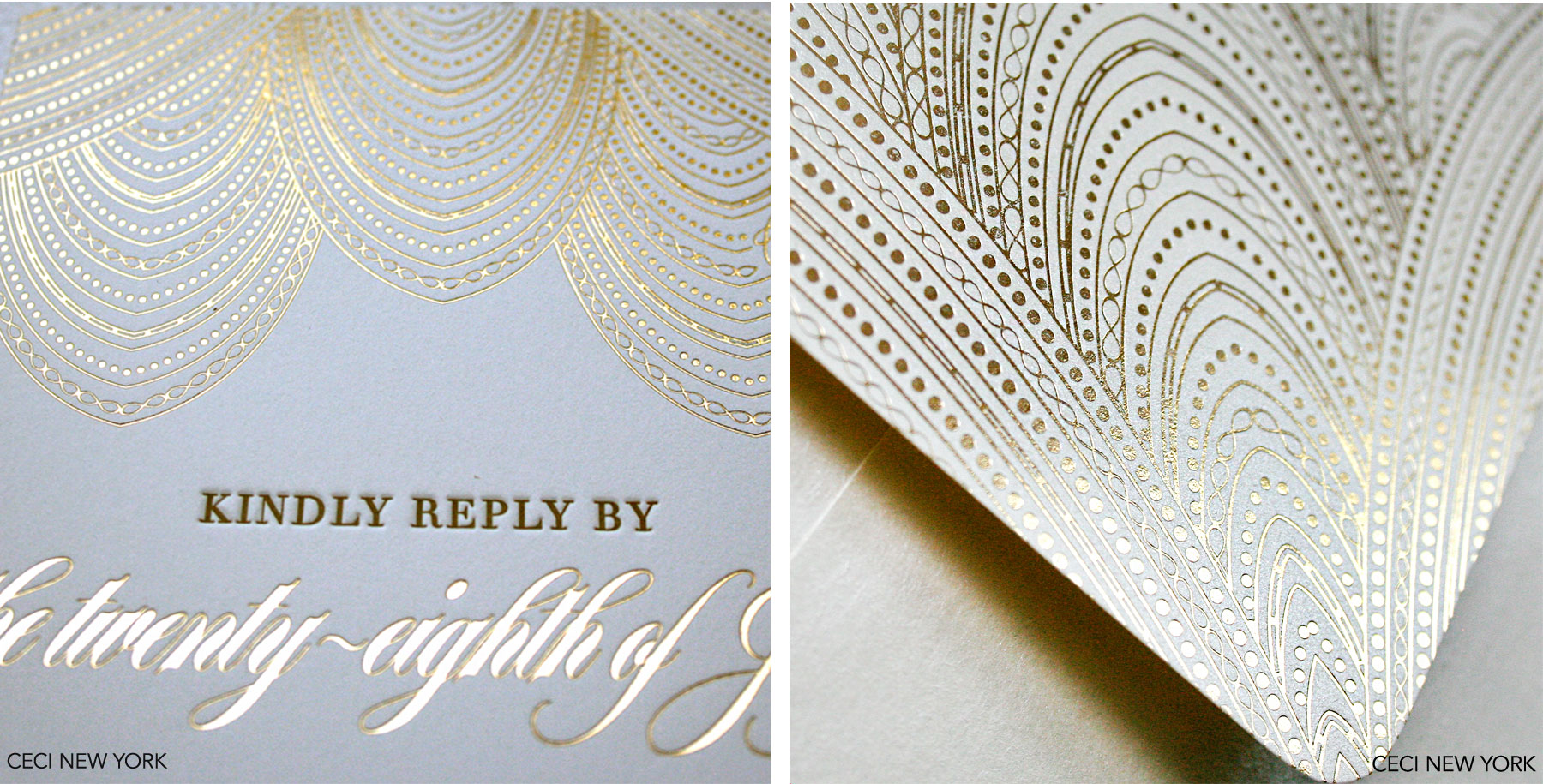 Luxury Wedding Invitations by Ceci New York - Our Muse - custom wedding invitations, luxury wedding invitations, couture, racquet club, texas, glamour, gold, ceci new york - Be inspired by Cameron and Winston's glamorous wedding in Texas - custom wedding invitations, luxury wedding invitations, couture, racquet club, texas, glamour, gold, ceci new york
