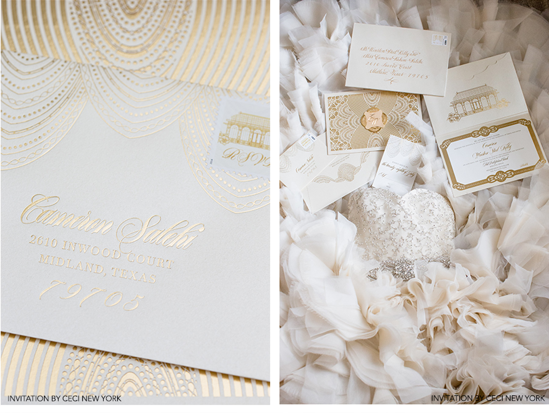 Our Muse - Glamorous Wedding in Texas: Cameron and Winston, Part 4 - Be inspired by Cameron and Winston's glamorous wedding in Texas. - reception, wedding, ceci new york, inspiration, ceci johnson, celebration, bride, groom, event, luxury wedding invitations,  couture, custom wedding invitations, ceci new york, thisbe grace photography, ray roman films, the racquet club, jordan payne events, fearing's, fancy cakes, maitee miles, kenneth pool, naeem khan, jimmy choo, synderela