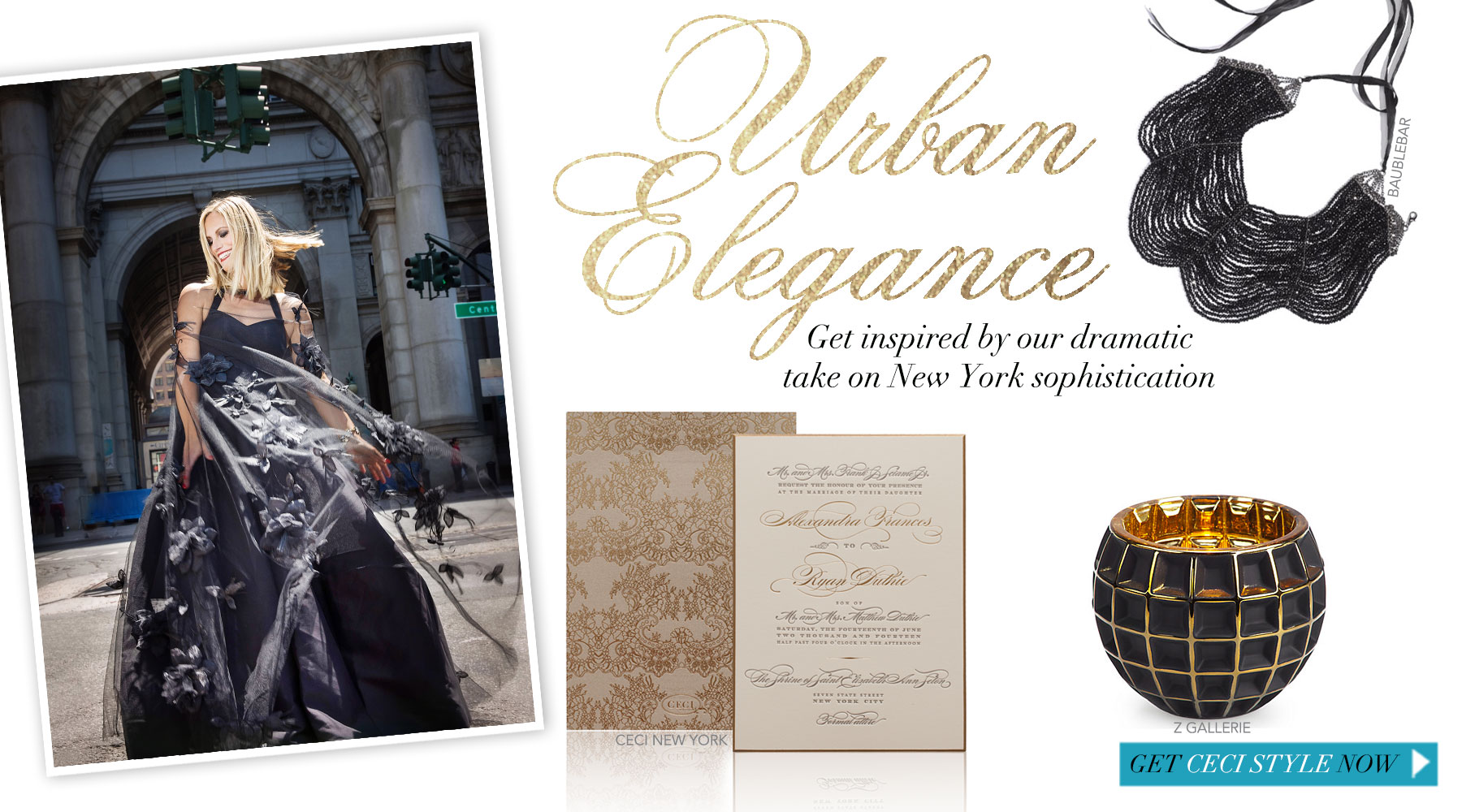 Urban Elegance - Get inspired by our dramatic take on New York sophistication