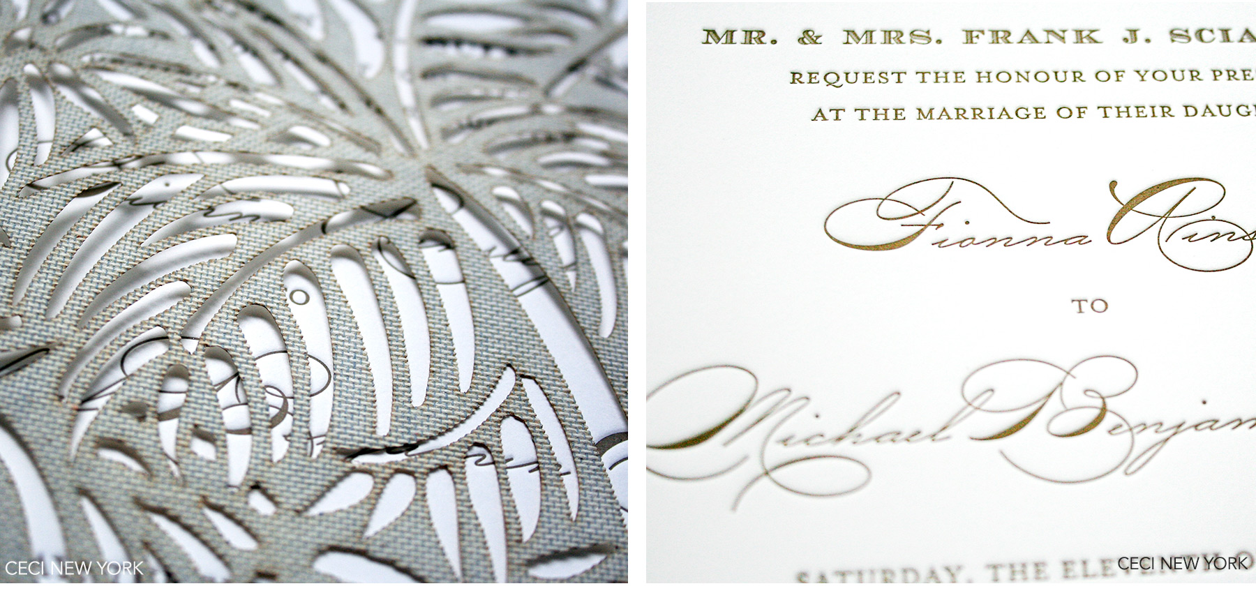 Luxury Wedding Invitations by Ceci New York - Our Muse - Luxe Beach Wedding in Palm Beach: Fiona and Michael, Part 1 - Be inspired by Fiona and Miachel's luxe beach wedding in Palm Beach, Florida. - Ceci New York Luxury Wedding Invitations - custom wedding invitations, luxury wedding invitations, couture, palm beach, florida, ceci new york