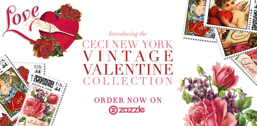 Introducing the Ceci New York Vintage Valentine Stamp Collection - Order now on Zazzle.com