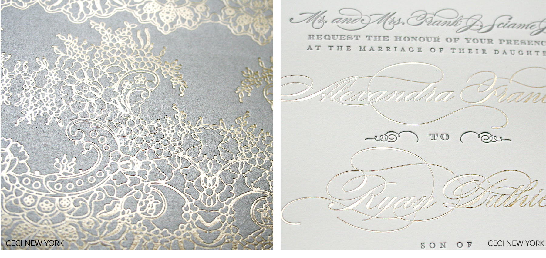 Luxury Wedding Invitations by Ceci New York - Our Muse - Urban Elegance - Be inspired by Alexandra and Ryan's elegant wedding on Wall Street in New York City. - Ceci New York Luxury Wedding Invitations - custom wedding invitations, luxury wedding invitations, couture, ceci new york, wall street, new york city