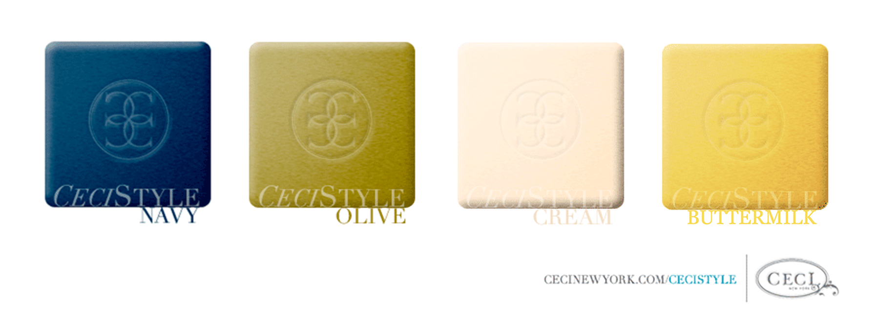 Ceci's Color Stories - Navy & Olive Wedding Color Swatches - color swatches, ceci johnson, ceci new york, ceci style, color stories, buttermilk, cream, navy, olive, inspiration