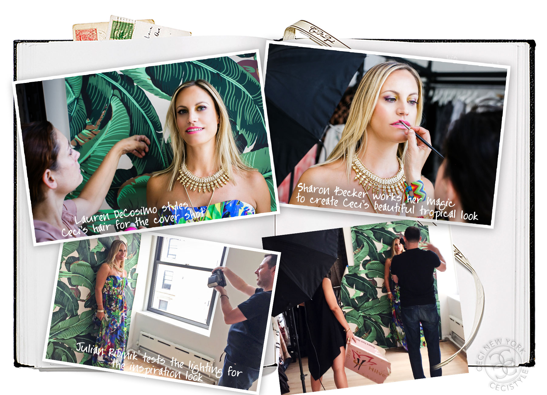 Behind the Scenes - CeciStyle Magazine v263 - Tropical Getaway