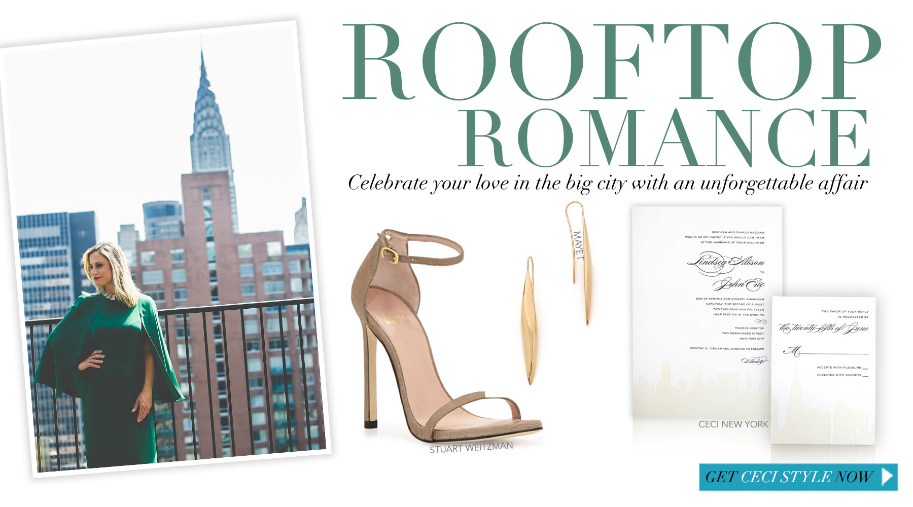 Rooftop Romance - Here's to celebrating love in the big city!