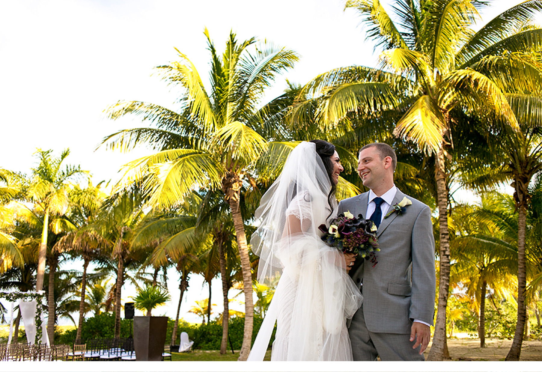 Our Muse - Tropical Wedding in Playa Mujeres, Mexico: Valerie and Thomas, Part 3 - Be inspired by Valerie and Thomas' tropical wedding in Playa Mujeres, Mexico. - invitations, wedding, ceci new york, inspiration, ceci johnson, celebration, bride, groom, event, luxury wedding invitations, couture, custom wedding invitations