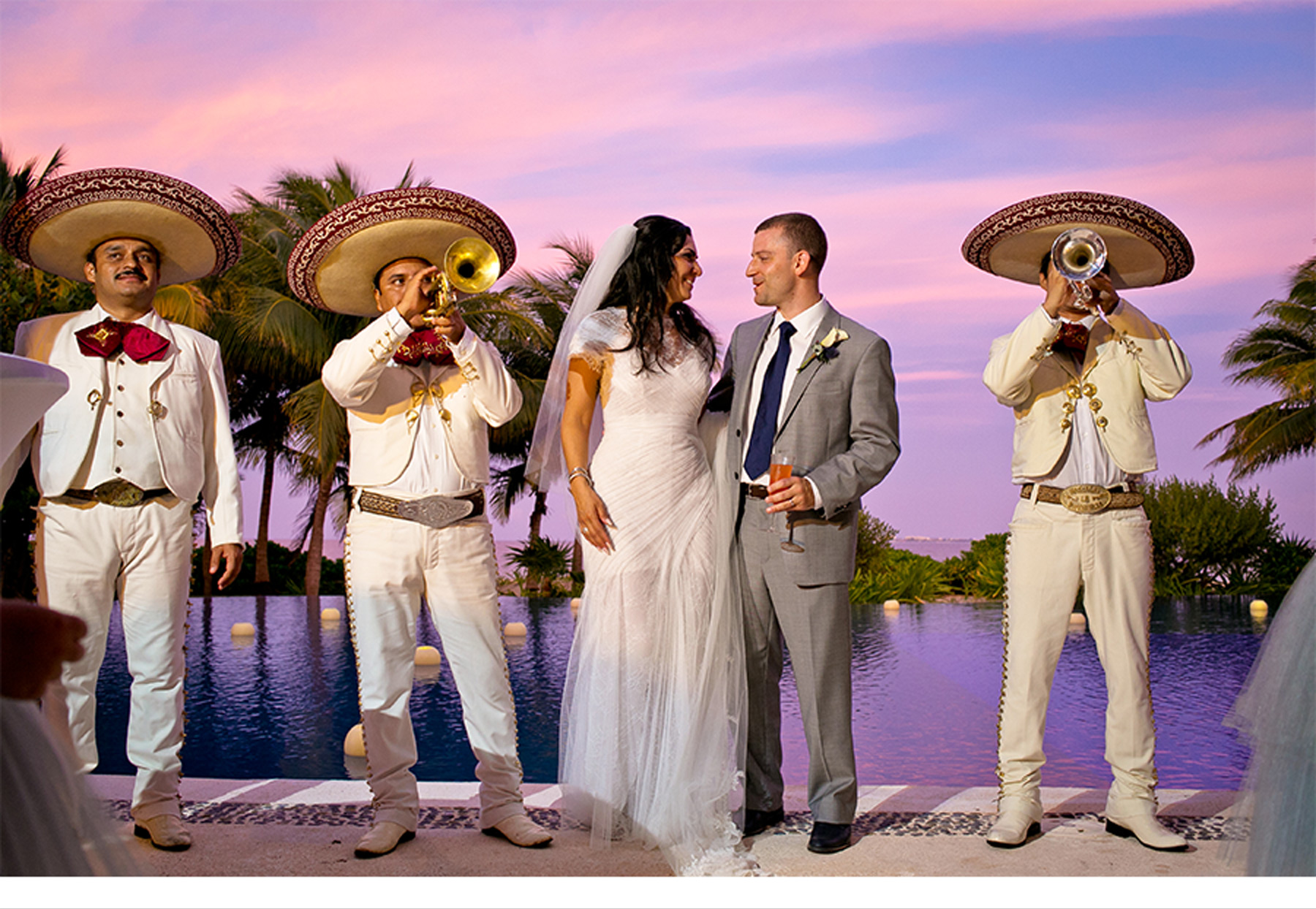 Our Muse - Tropical Wedding in Playa Mujeres, Mexico: Valerie and Thomas, Part 4 - Be inspired by Valerie and Thomas' tropical wedding in Playa Mujeres, Mexico. - reception, wedding, ceci new york, inspiration, ceci johnson, celebration, bride, groom, event, luxury wedding invitations,  couture, custom wedding invitations, ceci new york, efren guiterrez wedding films, villa balam-ha, playa mujeres, mexico, luxe destination weddings, the beloved hotel, planner 1 events, mannia cancun, monique lhuillier, jimmy choo, j. crew bridal, david yurman