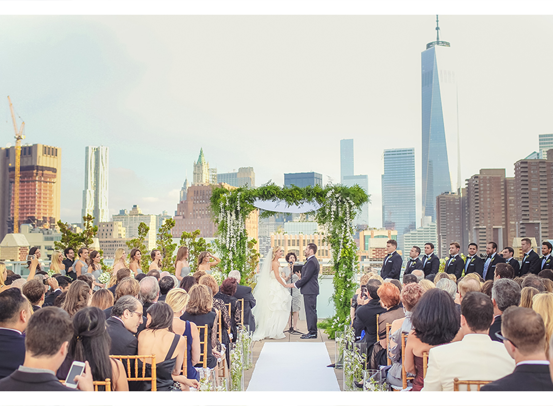 Our Muse - Rooftop Wedding in New York City: Lindsey and John, Part 3 - Be inspired by Lindsey and John's romantic rooftop wedding in New York City. - invitations, wedding, ceci new york, inspiration, ceci johnson, celebration, bride, groom, event, luxury wedding invitations, couture, custom wedding invitations