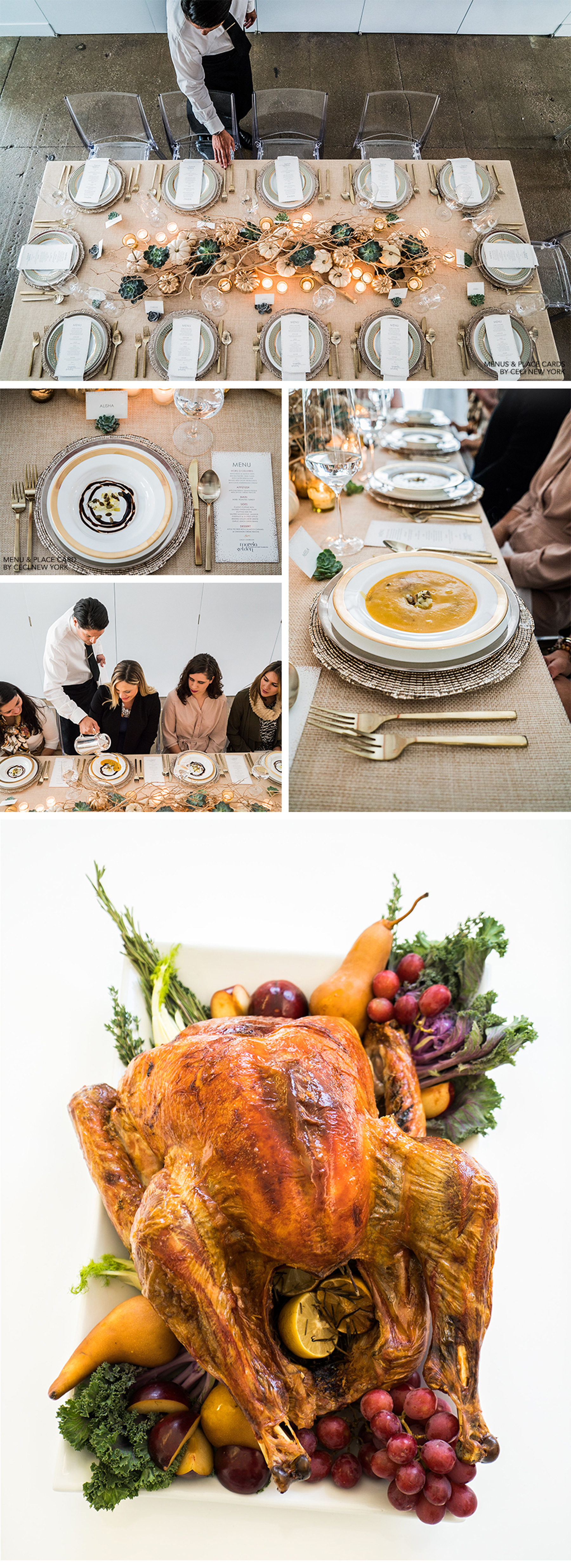 Our Muse - Team Ceci Celebrates a Modern Thanksgiving - Be inspired by Ceci New York's chic, contemporary Thanksgiving celebration - ceci johnson, contemporary thanksgiving, mcardles florist and garden center, marcia selden catering & event planning, jeffrey selden, parris whittingham, smith party rentals, ceci new york, team ceci, thanksgiving inspiration, happy holidays