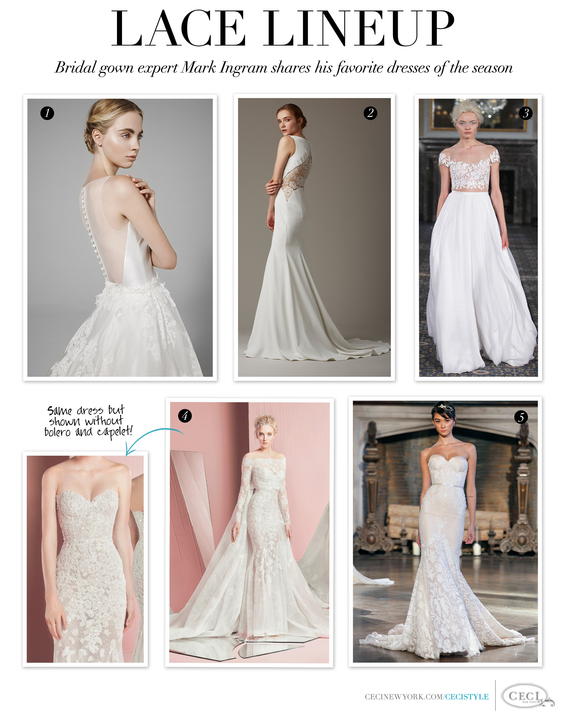 Lace Lineup - Bridal gown expert Mark Ingram shares his favorite dresses of the season