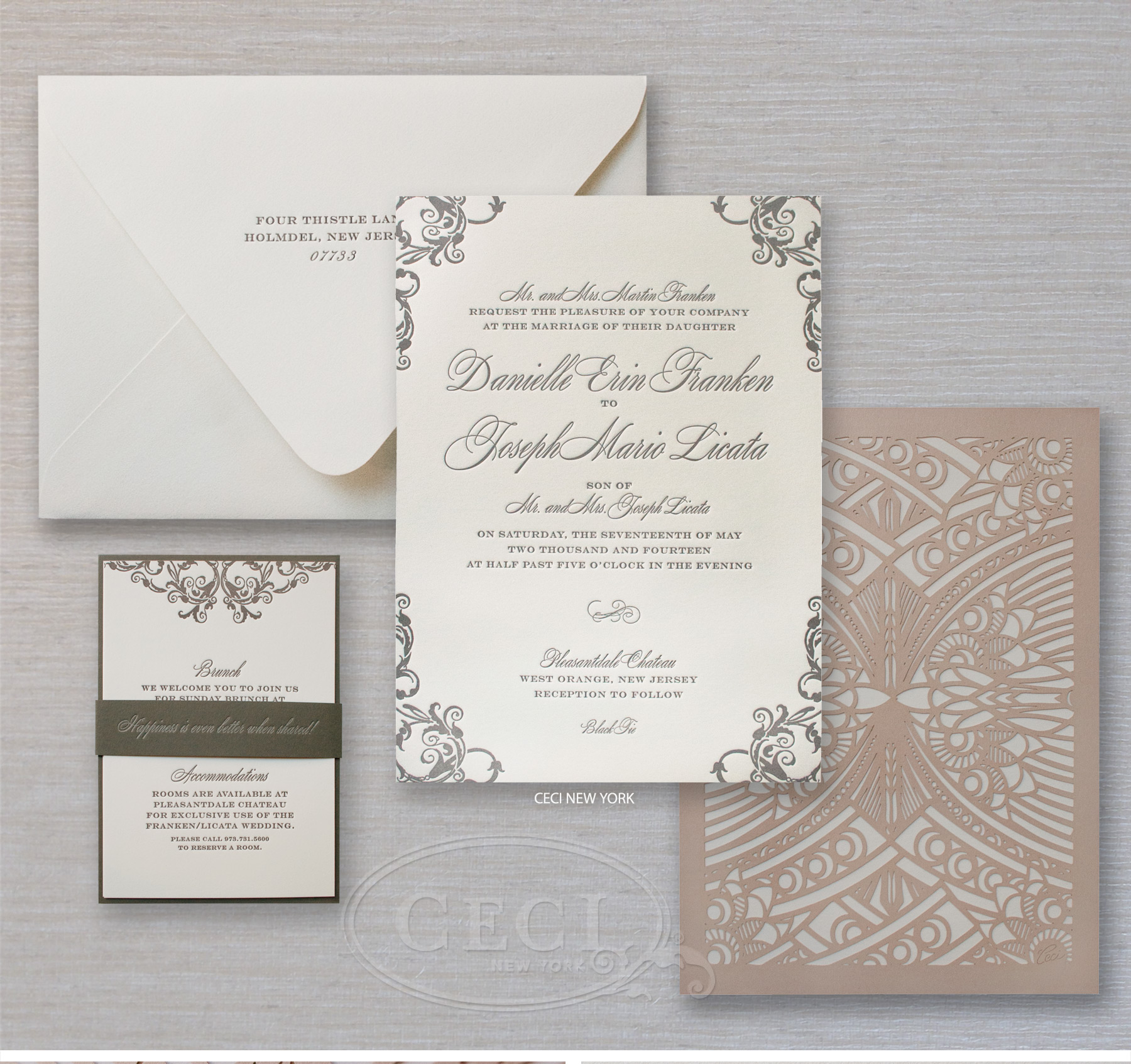 v280 our muse chateau wedding in new jersey danielle & joseph Wedding Invitation New Jersey luxury wedding invitations by ceci new york our muse chateau wedding in new jersey wedding invitations new jersey
