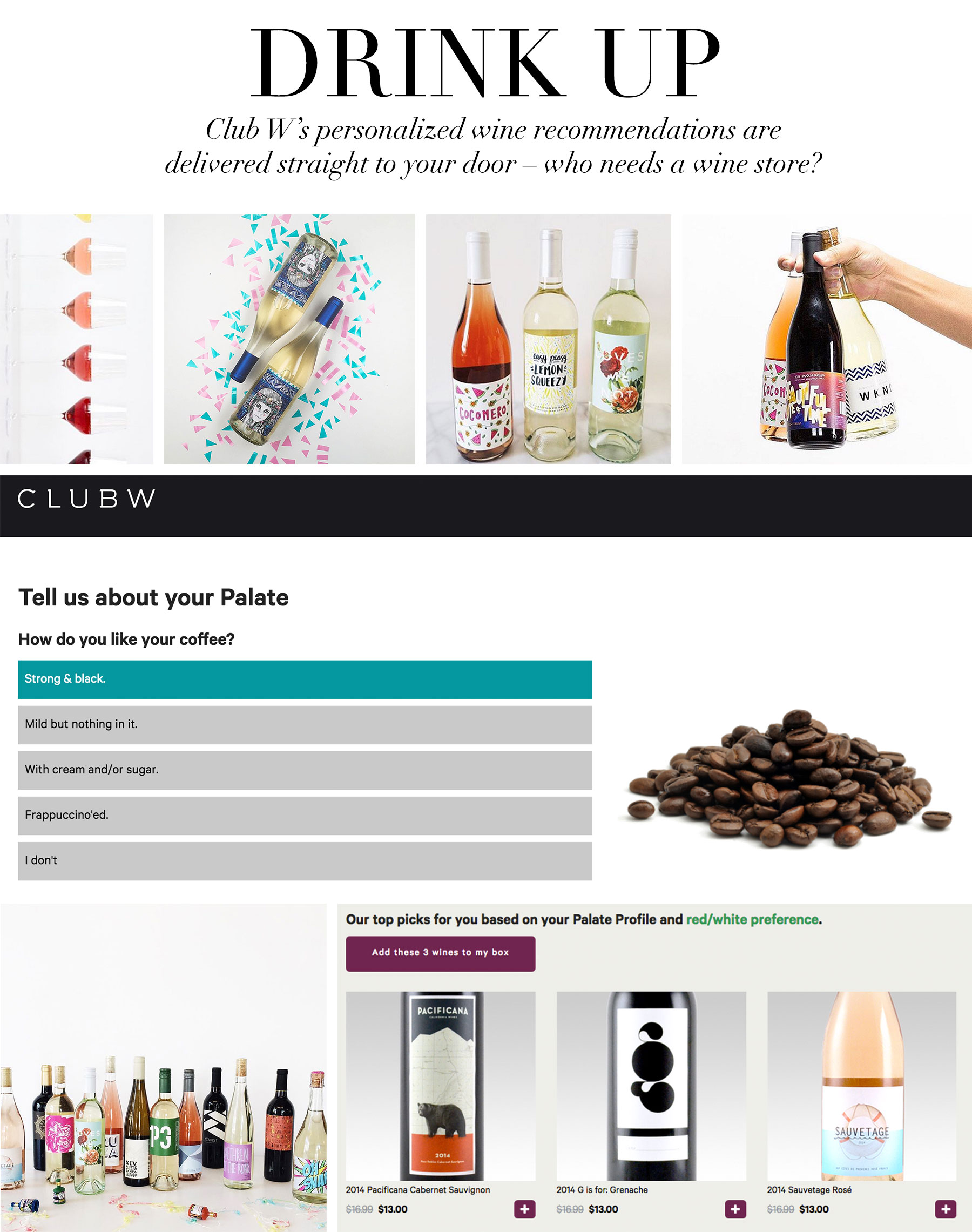 Ceci Johnson's Pampering Picks - Drink Up - Personalized wine recommendations based on your personal wine palate, and delivered to your door – who needs a wine store?