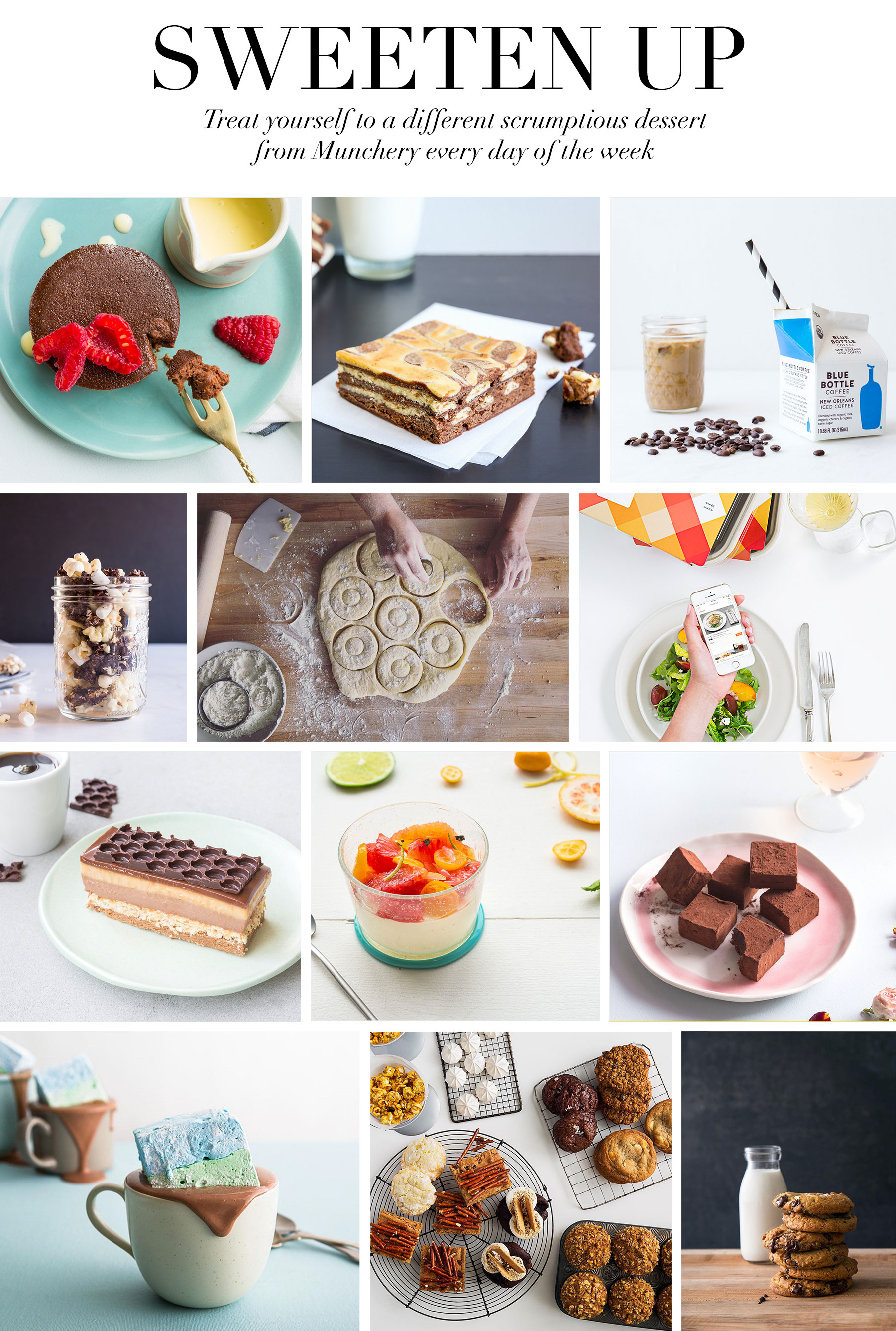 Ceci Johnson's Pampering Picks - Sweeten Up - I'll be treating myself to a big dessert spread from Munchery. With a new menu every day, my sweet treats will be a surprise!