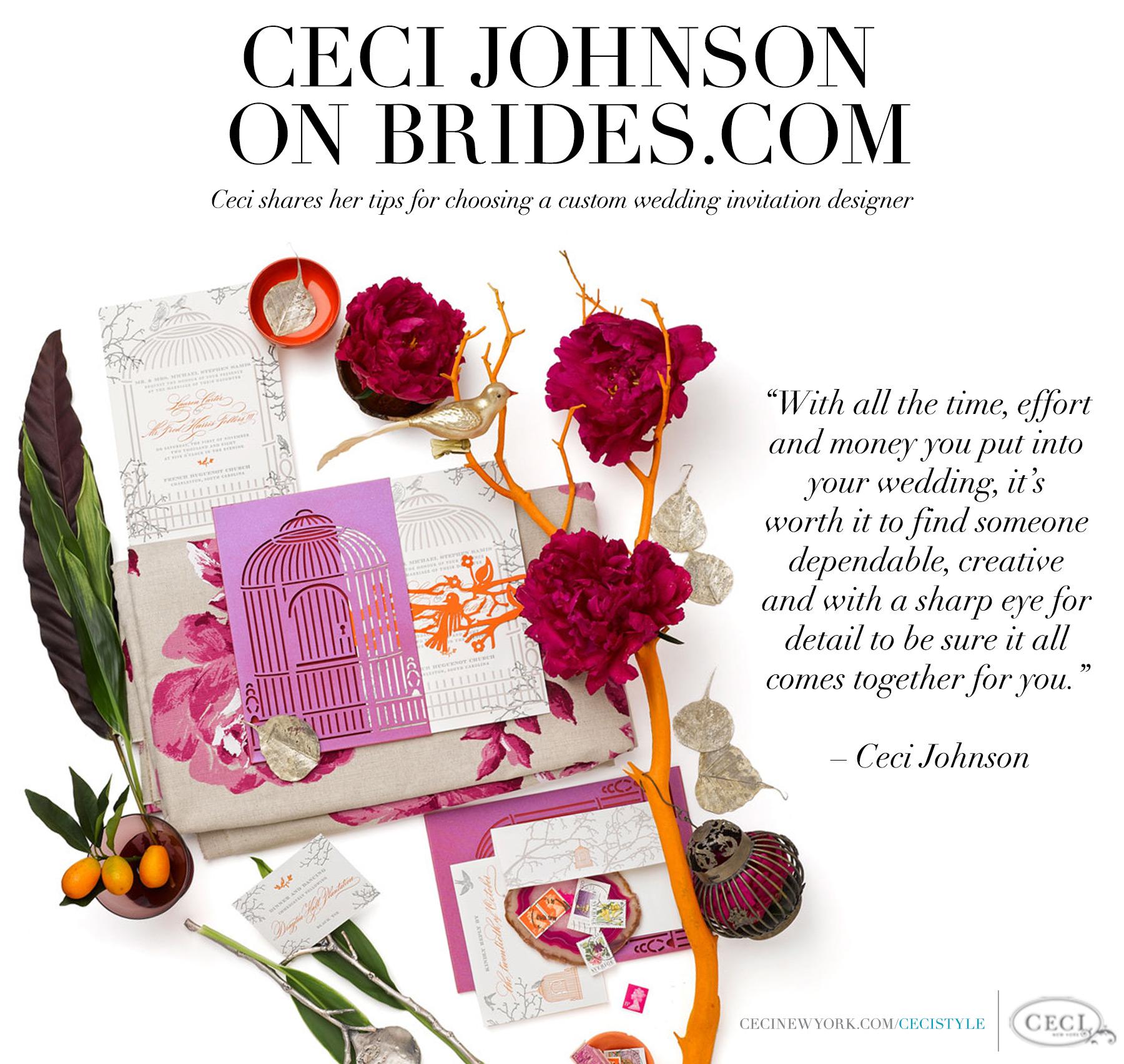Ceci Johnson on Brides.com