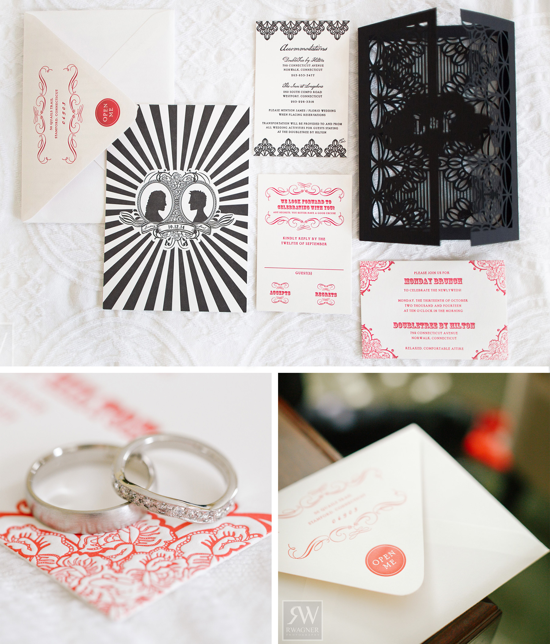 V286: Our Muse - Red, Black, and White Statement Wedding: Lindsay ...