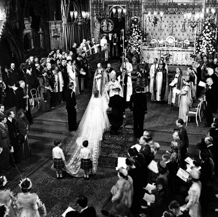 Our Muse - Ceci's Favorite Royal Weddings - 1947 - Queen (then Princess) Elizabeth to Prince Philip
