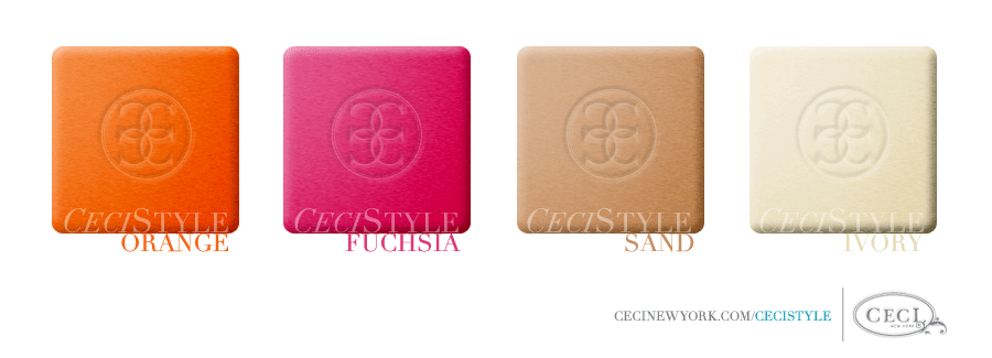 Ceci's Color Stories - Orange & Fuchsia Wedding Colors - color swatches, champagne, cream, fuchsia, orange